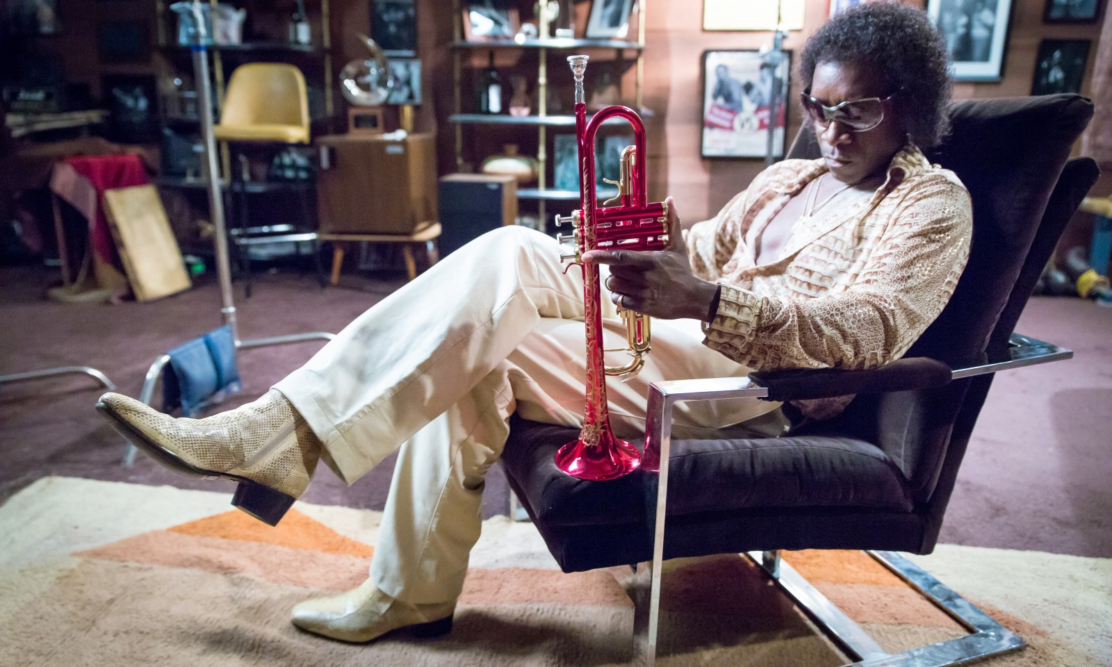 "It took Don Cheadle, shown playing Miles Davis in ""Miles Ahead,"" 10 years to get the movie about the jazz icon's dark days made."