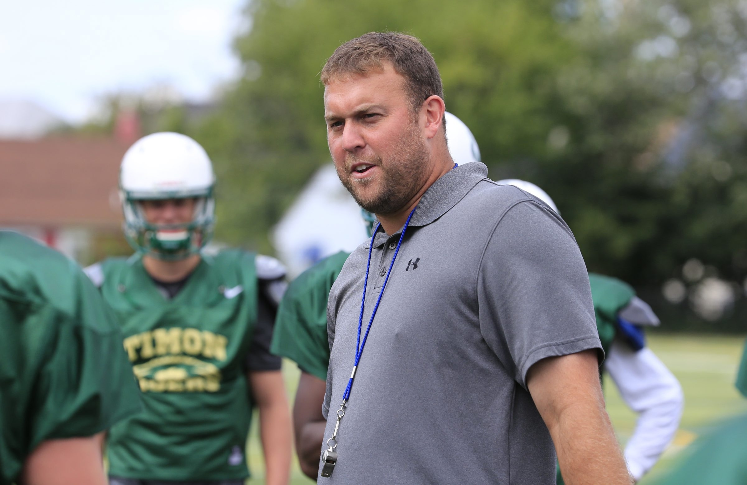 Bishop Timon-St. Jude football coach Charlie Comerford has scheduled games against powerhouse programs in Georgia and Texas.