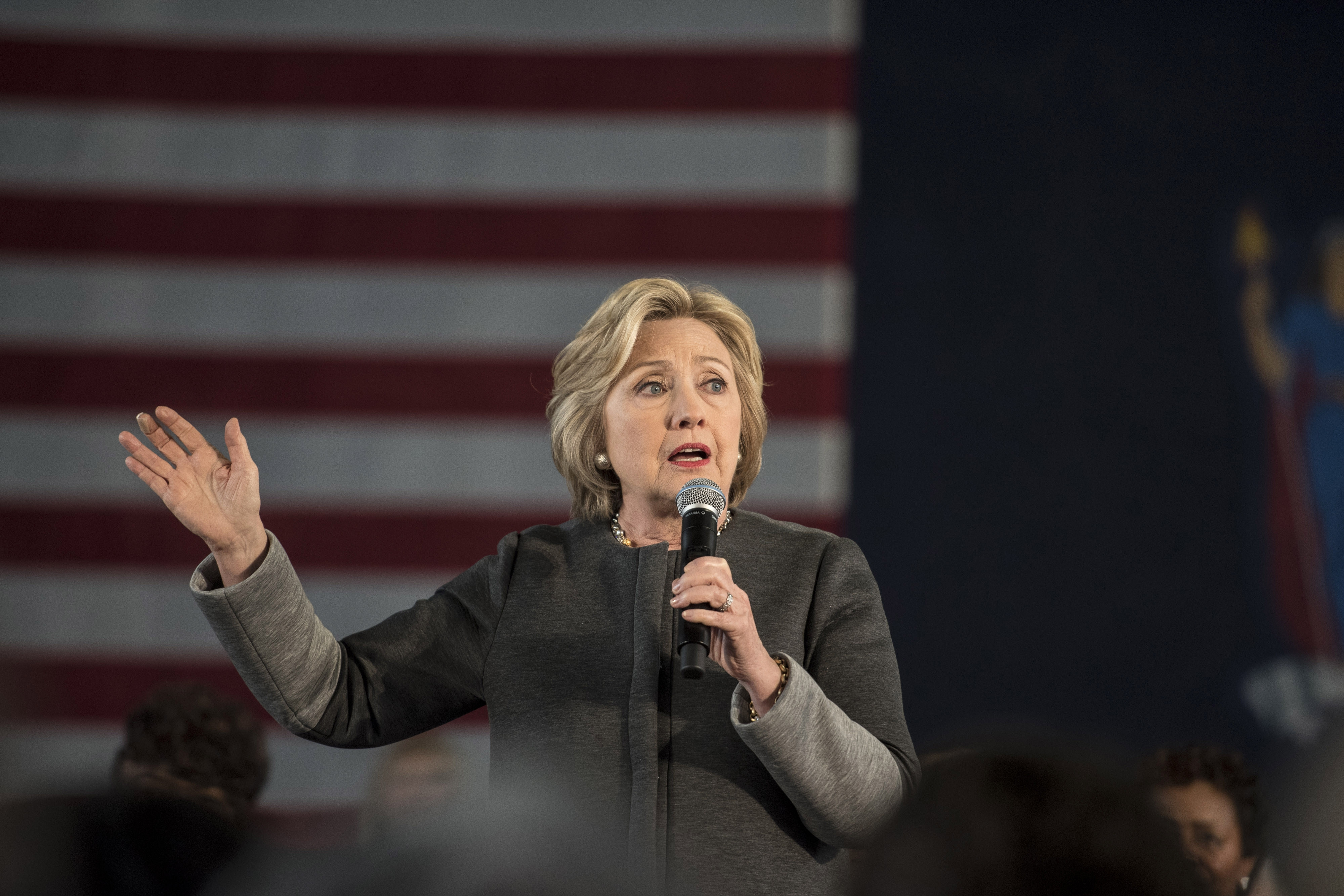 Democratic presidential candidate Hillary Clinton hosts a Women for Hillary Town Hall meeting on Tuesday at Medgar Evers College in Brooklyn. Clinton will be in Buffalo on Friday. (Getty Images)