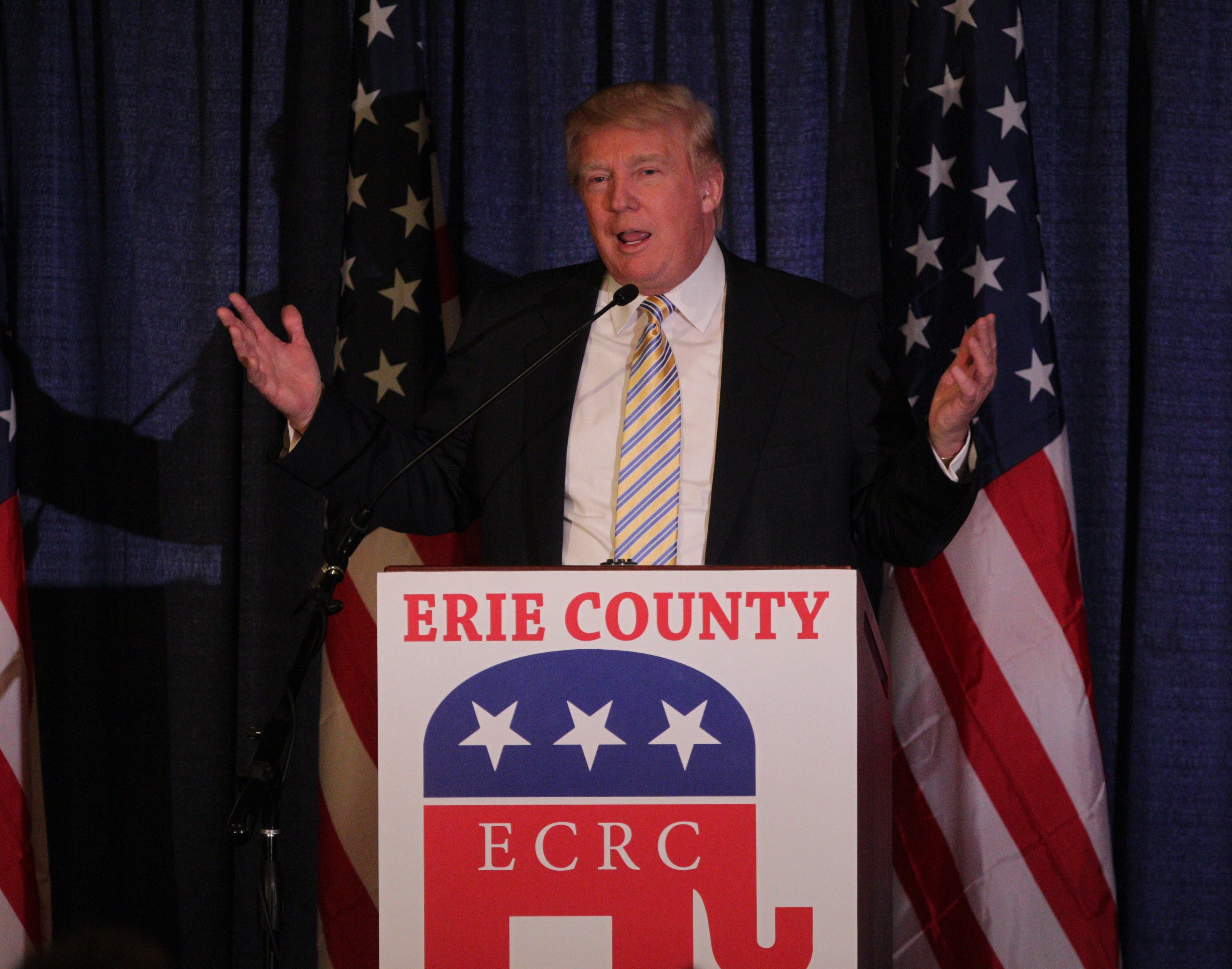 Donald Trump was the guest of honor and keynote speaker at the Erie County Republican Committee Lincoln Leadership Reception at Salvatore's Italian Gardens , Friday, Jan. 31, 2014.  (Sharon Cantillon/Buffalo News)