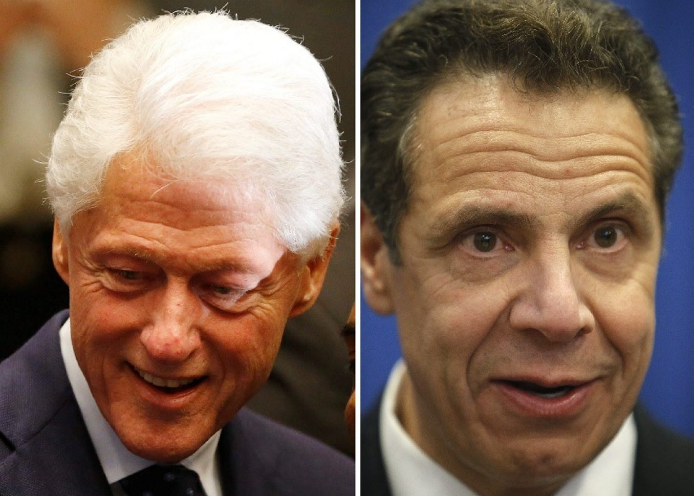 Gov. Andrew Cuomo, right, and former President Bill Clinton will visit Buffalo Monday for a campaign rally for Hillary Clinton. (News file photos)