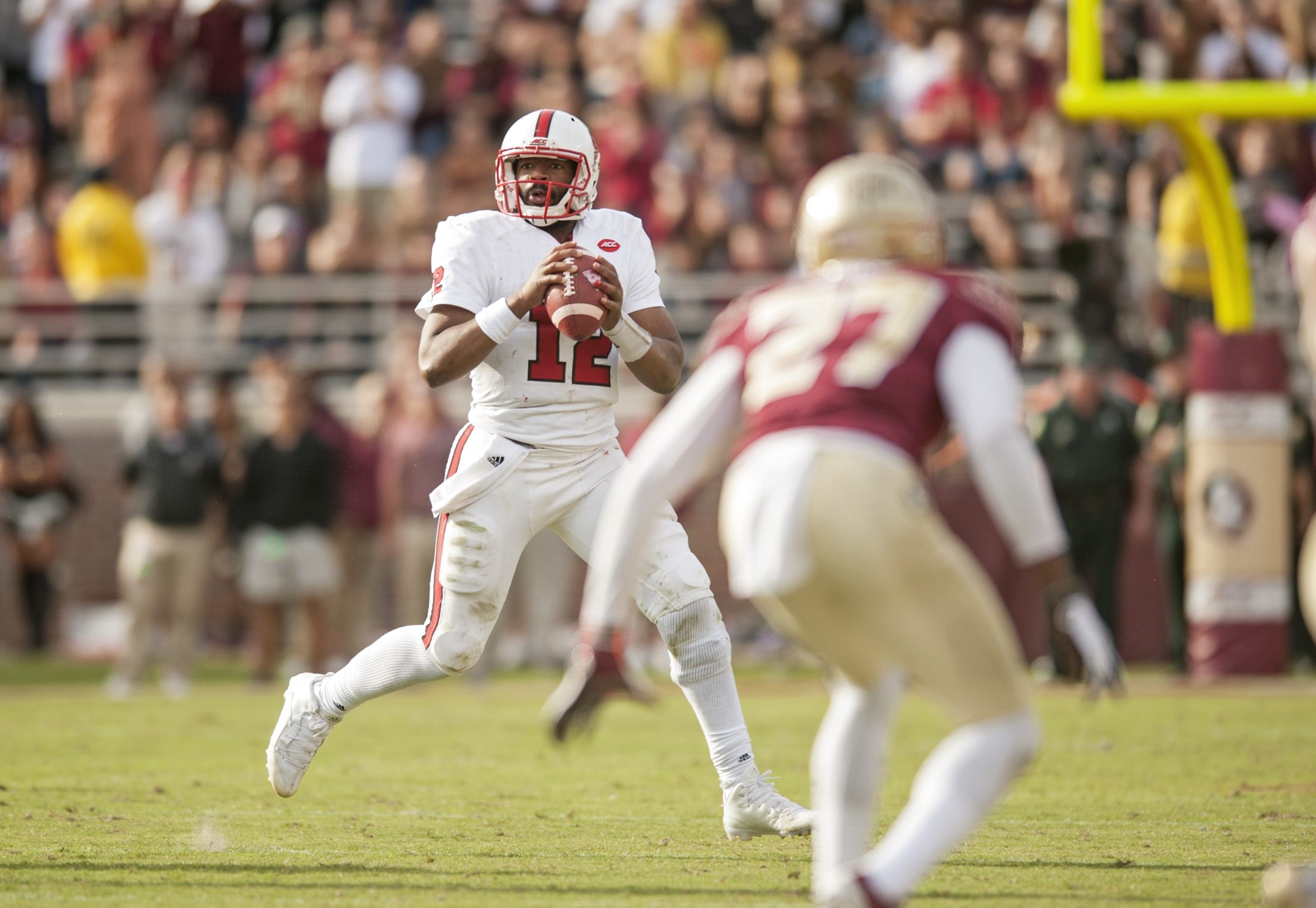 N.C. State quarterback Jacoby Brissett directed a pro-style offense with the Wolfpack that required NFL-style throws.