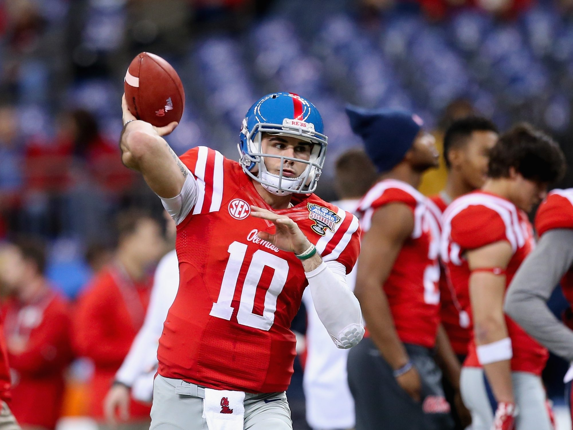 Quarterback Chad Kelly may have caught the fancy of an NFL team had he come out for the draft.
