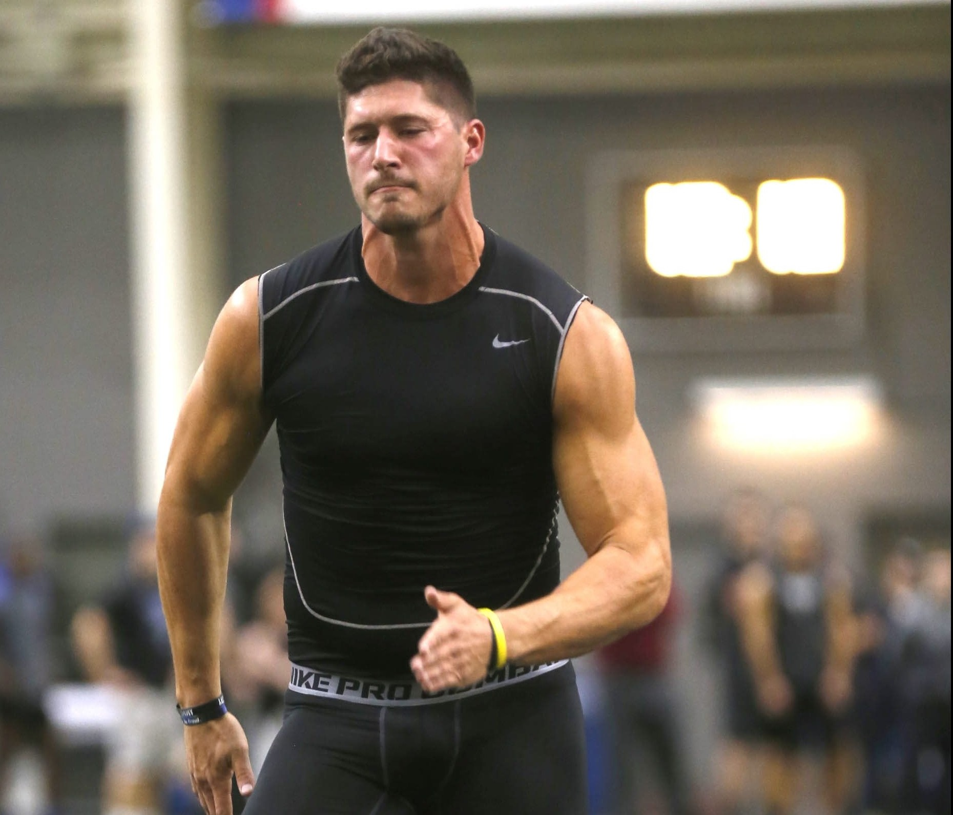 Tight end Matt Weiser put his talent on display during the March 9 UB Pro Day.