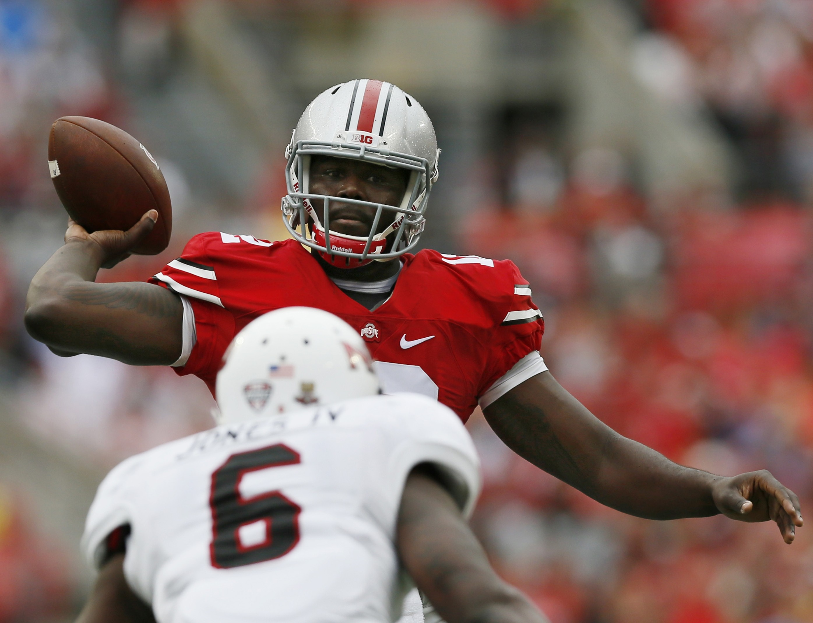 The Bills are intrigued by the skill set of former Ohio State quarterback Cardale Jones, who has a cannon arm but will need time to get his game NFL-ready.
