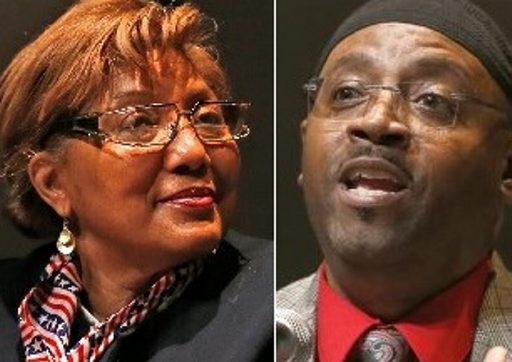 Paulette Woods, a youth advocate and county manager, and parent advocate Bryon J. McIntyre are running for the school board seat currently held by minority bloc member Mary Ruth Kapsiak.