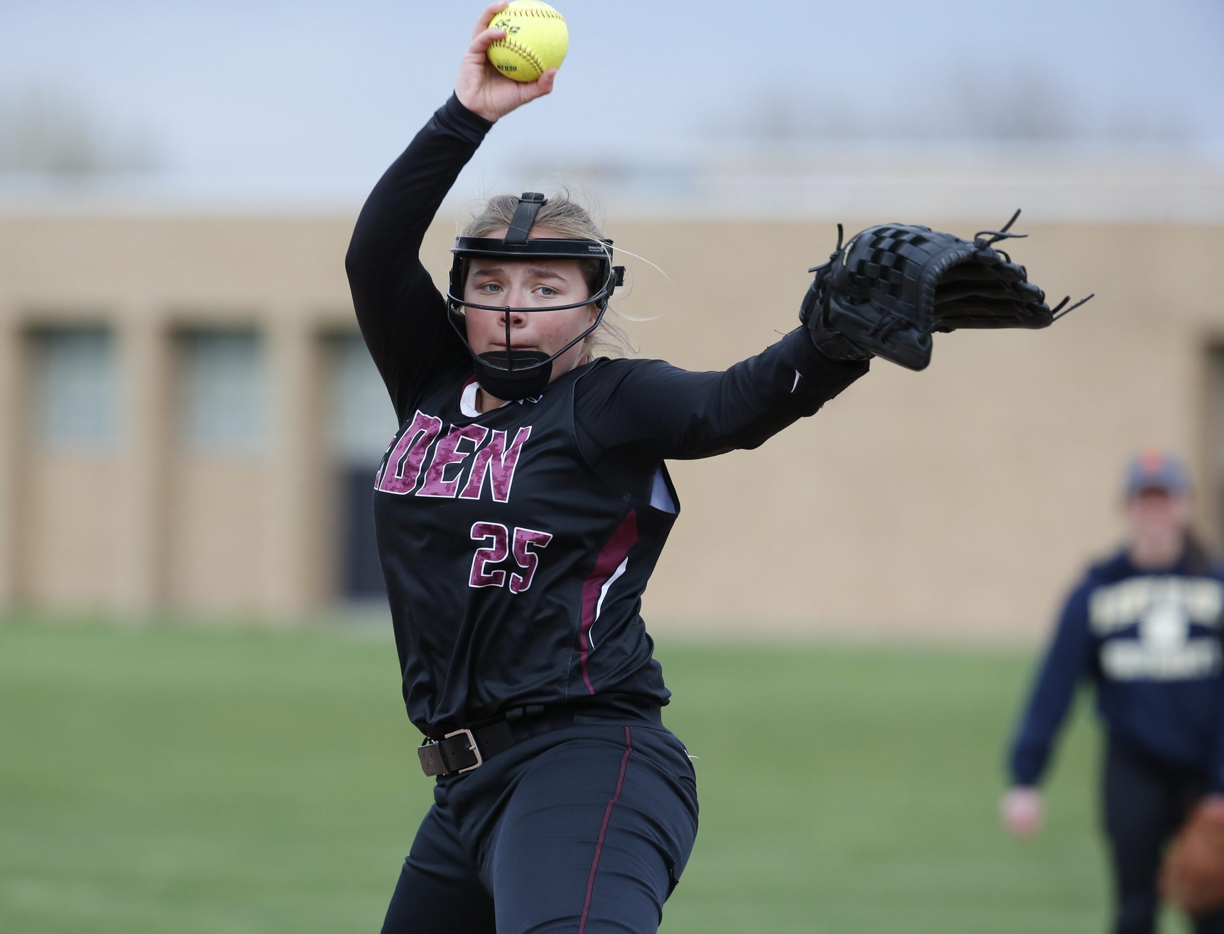Brittany Goodrich tossed a no-hitter with 10 strikeouts Thursday during Eden's 16-0 win over Lackawanna.