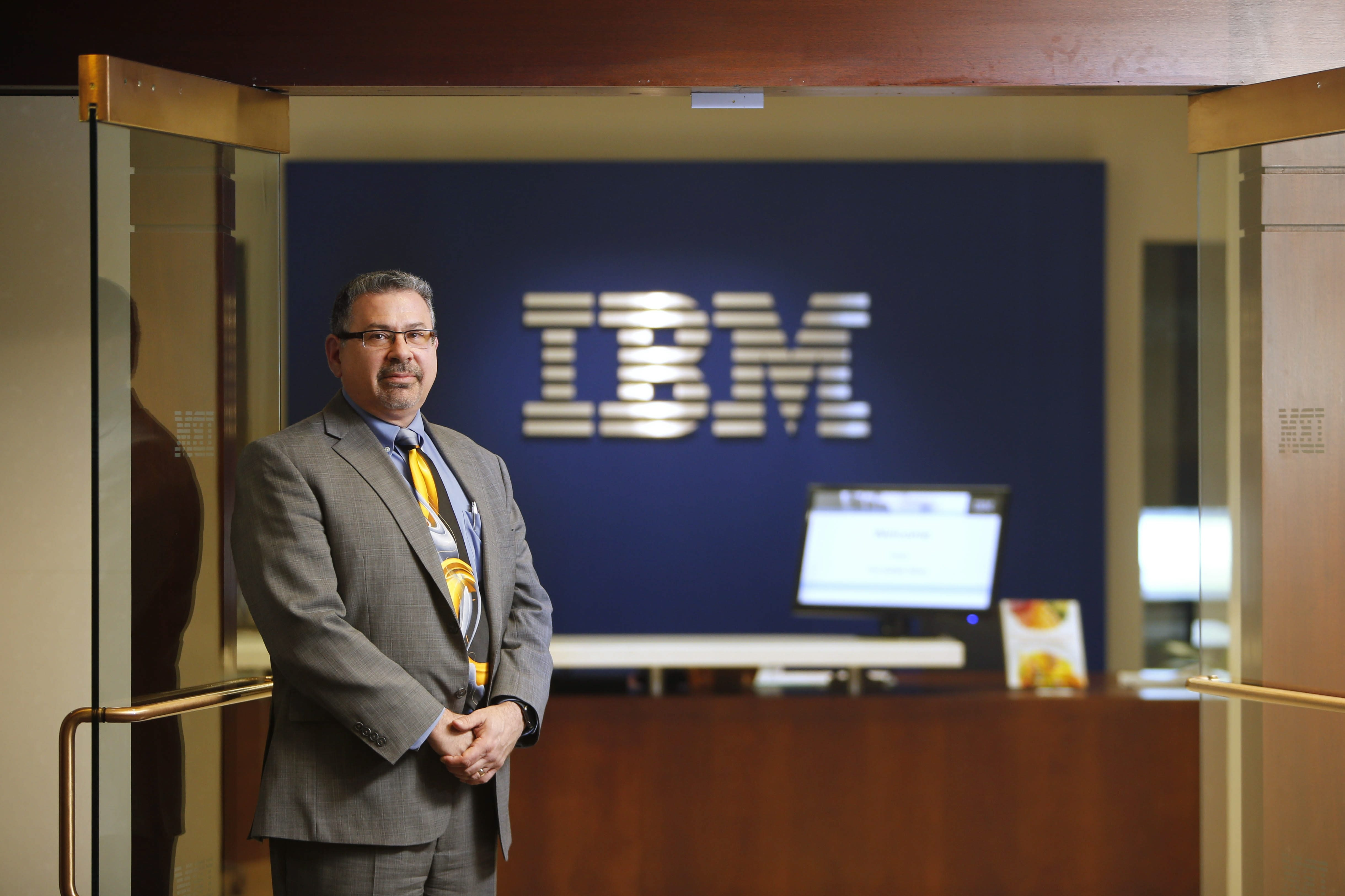 Jay Goodwyn, executive director of the IBM Buffalo Innovation Center, says the center will help companies analyze data to become smarter.  (Derek Gee/Buffalo News)