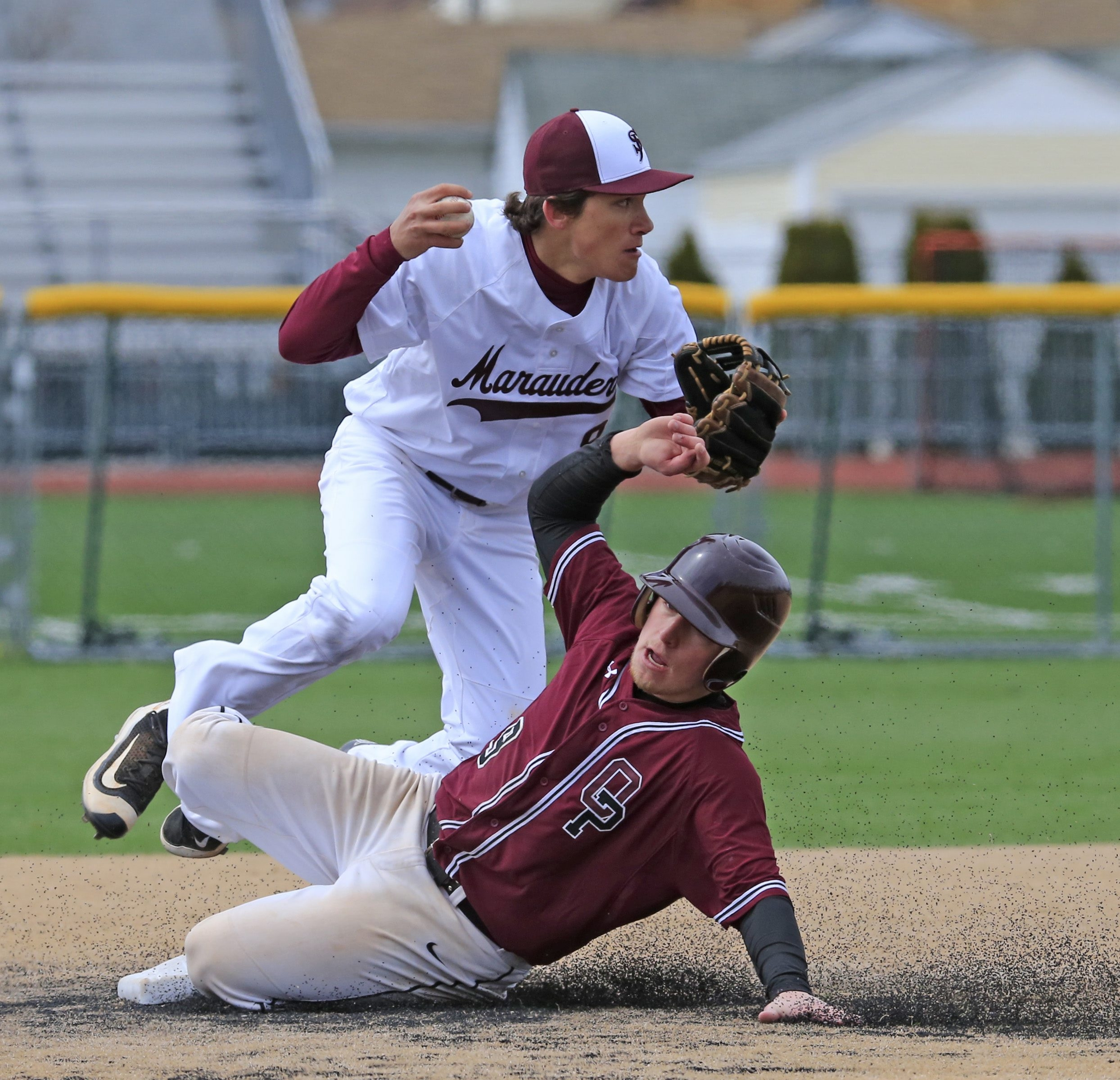 Orchard Park baserunner Troy Banks and St. Joe's infielder Jake Pavicich play for two of the area's top-ranked teams.