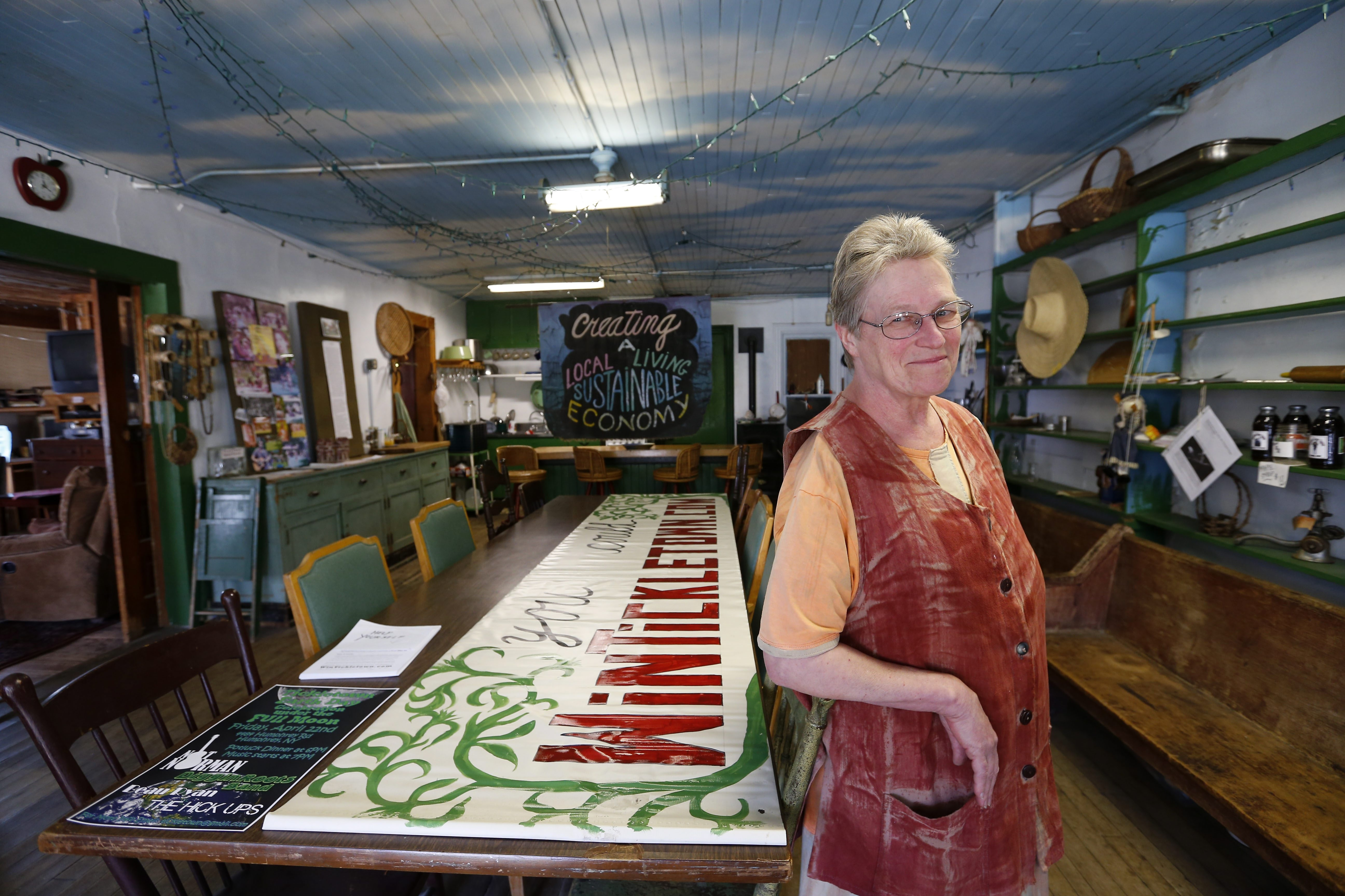 """I want someone to continue on with the legacy that I started with. I'm talking regeneration, sustainability,"" said Lois Hilton of Tickletown Trade in Humphrey. (Mark Mulville/Buffalo News)"