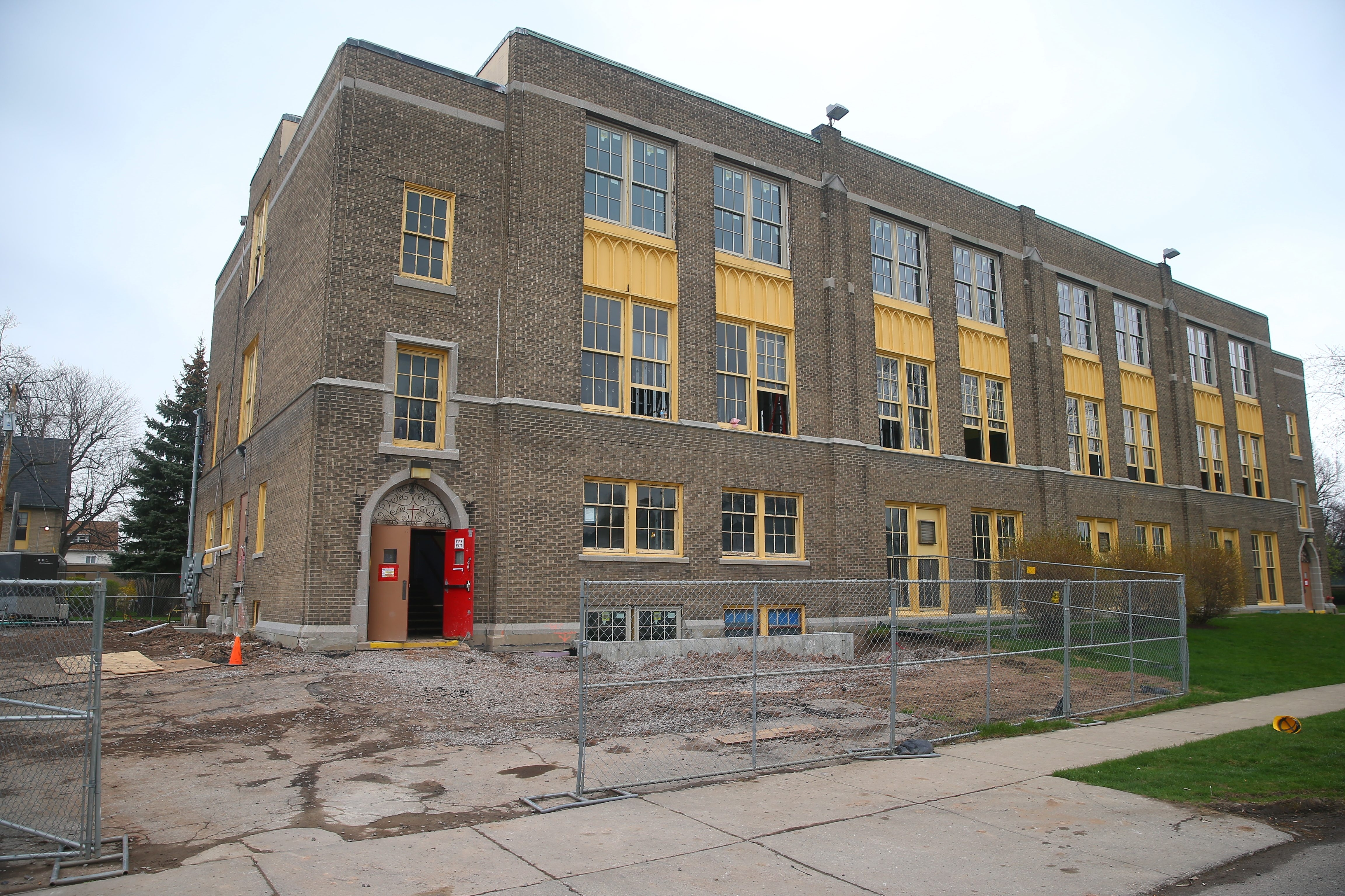 The former St. Rose of Lima school at 1030 Parkside Ave. is being converted into apartments called The School Lofts @ Parkside.