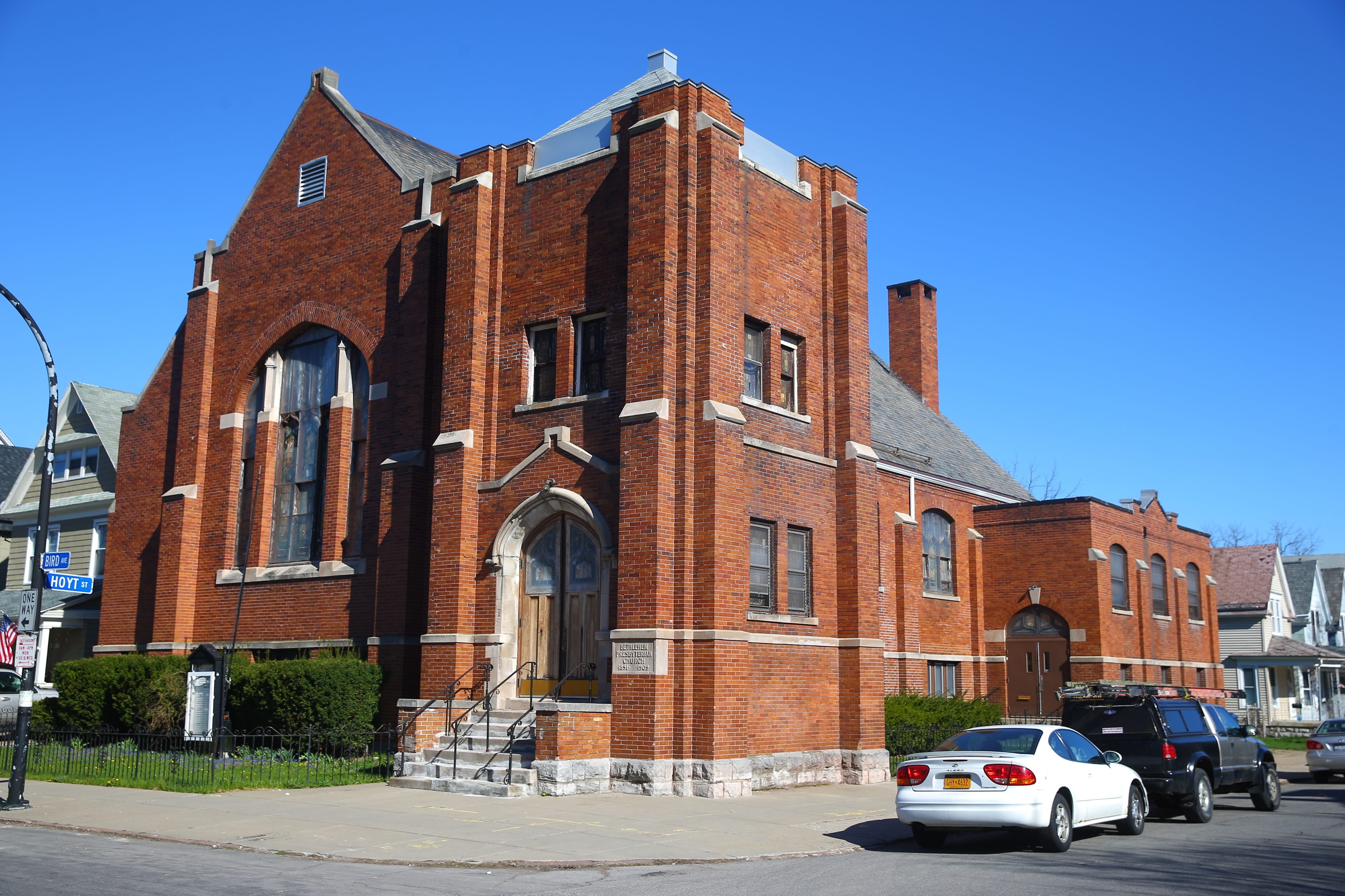 The former Bethlehem Presbyterian Church, 240 Bird Ave. in Buffalo is going to  be converted into condos.