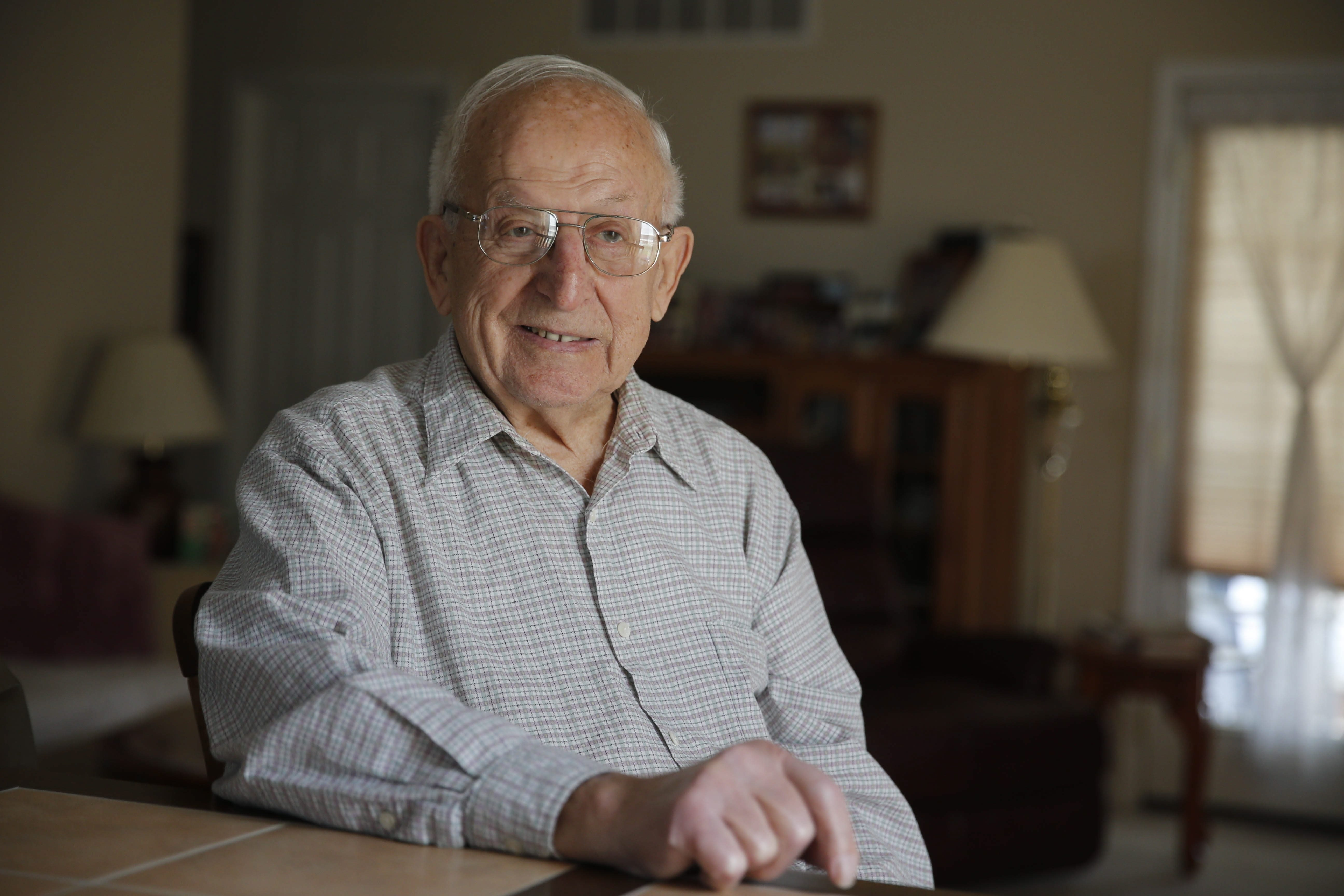 """After WWII came war in Korea for Robert C. Senko. """"I had to engage in hand-to-hand combat,"""" he says, while """"trying to survive."""""""