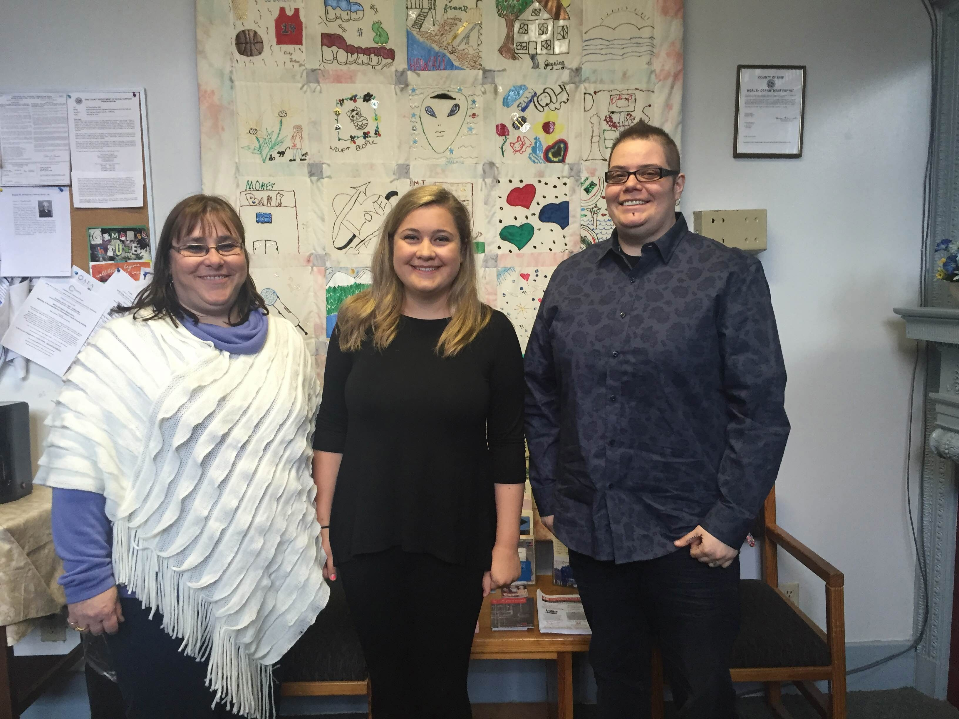 Compass House Executive Director Lisa Freeman, NeXt correspondent Cassanda Mihalczo and former client Mandy talked about  Safe Place Week last week.