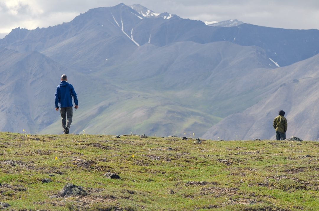 Cheektowaga Central Middle School science teacher Stan Skotnicki, in the Arctic National Wildlife Refuge in Alaska during an expedition last year .