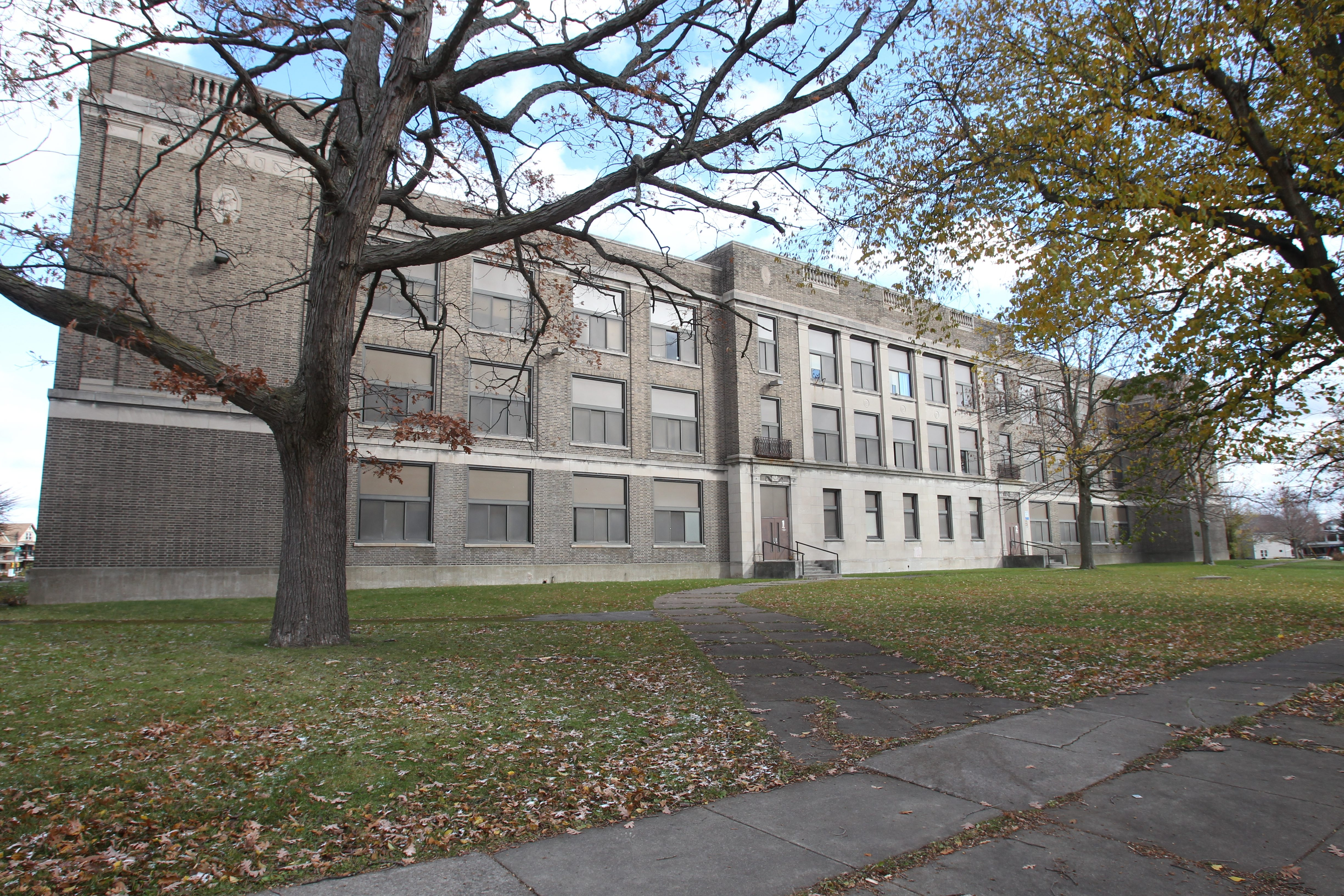 Conversion of the former South Junior High School into apartments and commercial space begins Thursday.