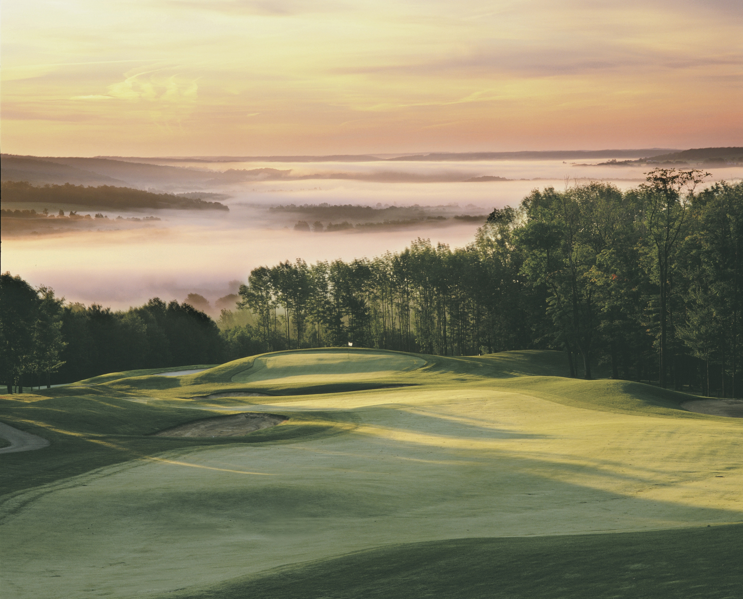 The 12th hole on the Upper Course at Peek'n Peak, which will host the Web.com Tour's LECOM Health Challenge July 7-10.