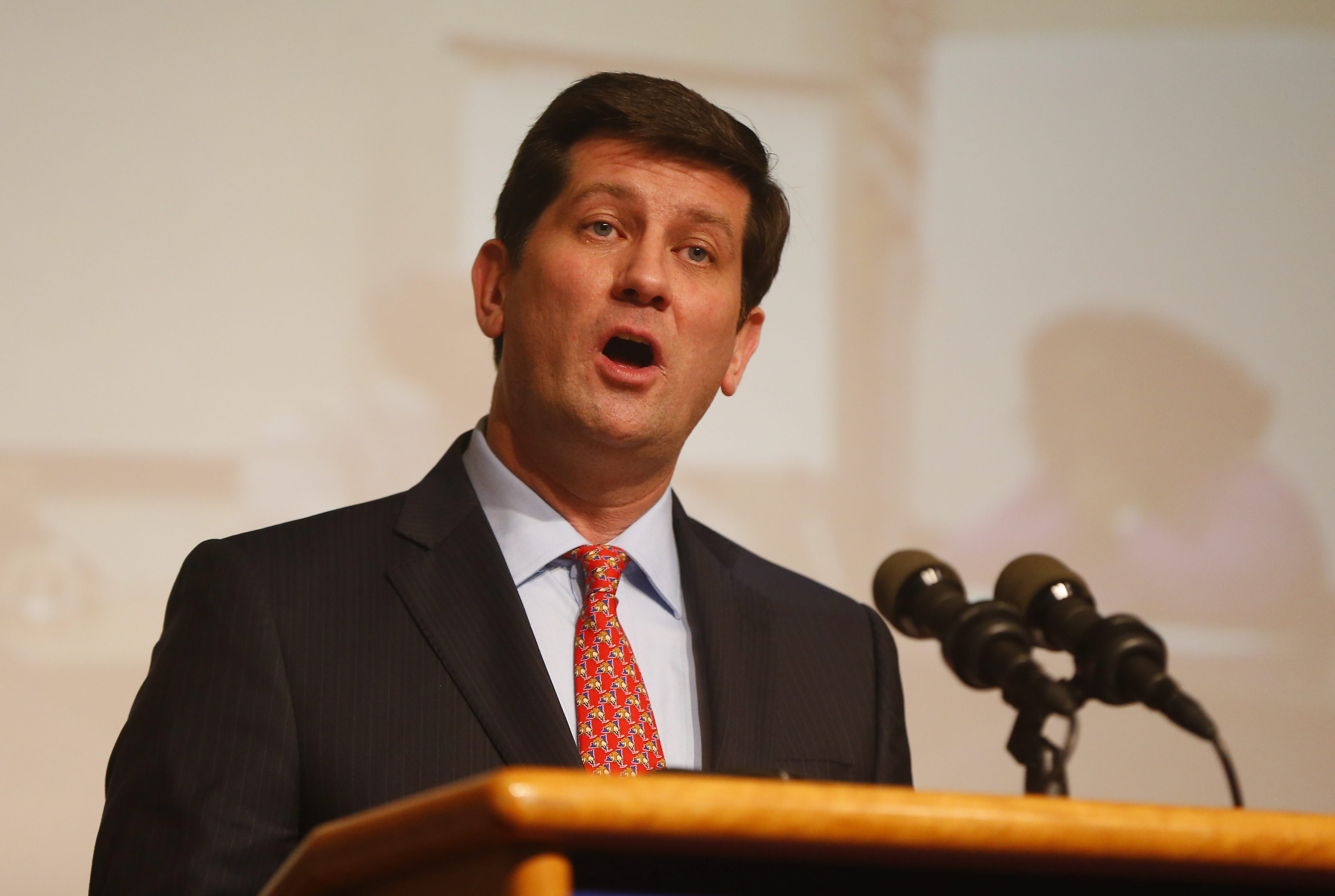 Erie County Executive Mark Poloncarz gives the State of the County address at the Buffalo and Erie County Historical Society Thursday, March 10, 2016.   (Mark Mulville/Buffalo News)
