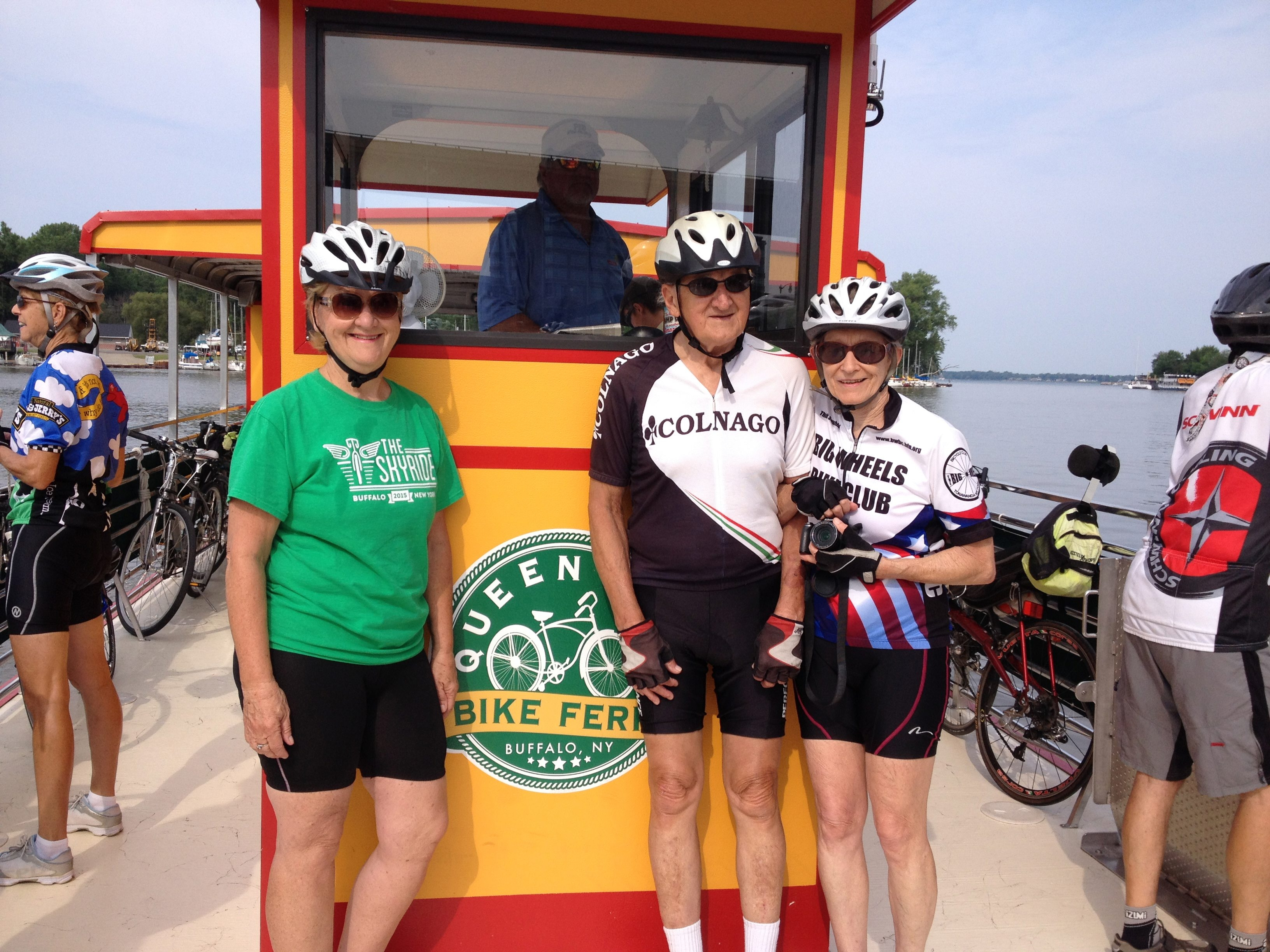 Nancy Baumann, left, rides with Bruno Perfette, Patricia Lord and dozens of others Big Wheels Bicycle Club members.