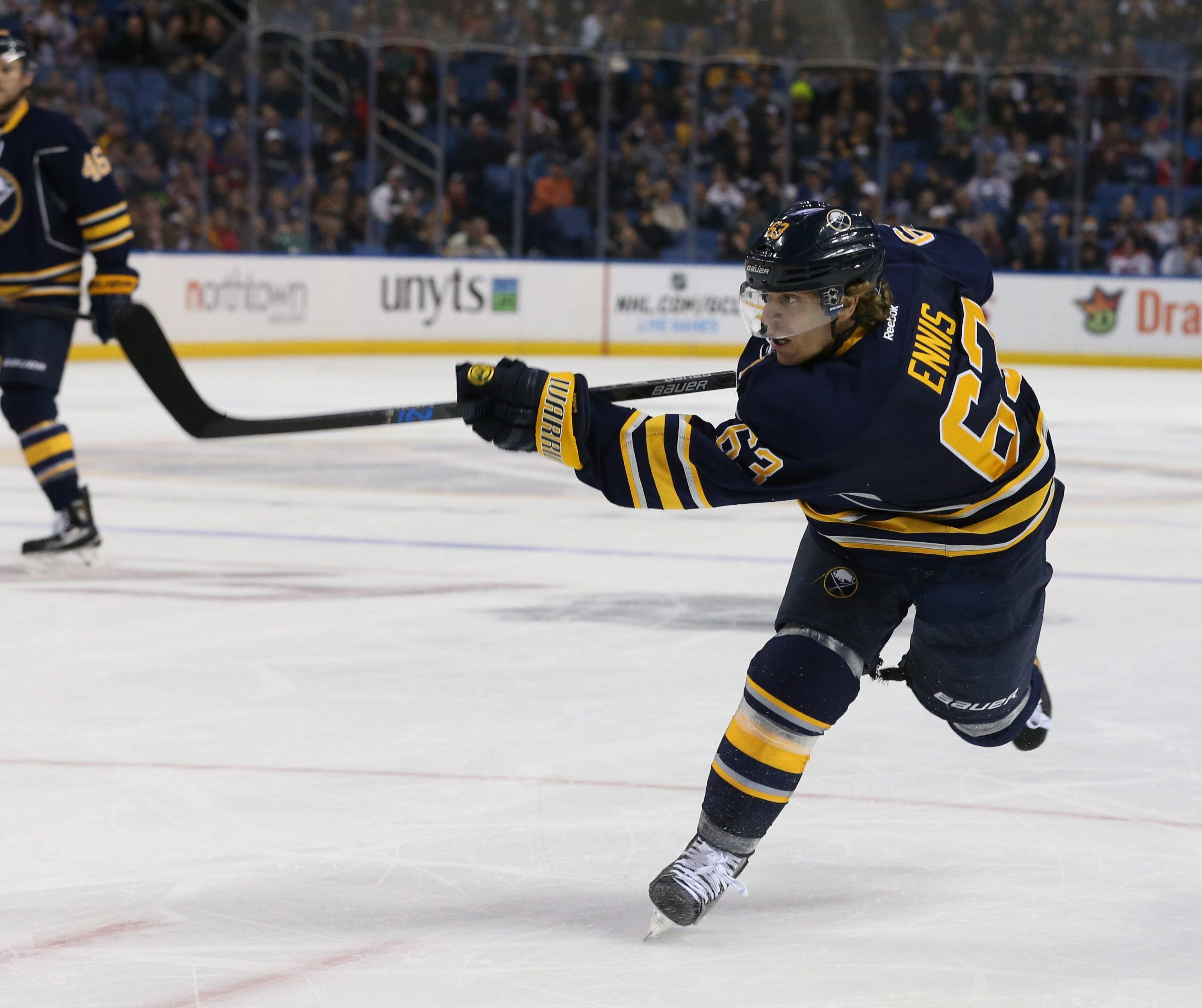 Tyler Ennis hasn't played since absorbing a jolting hit Dec. 30. (Photo by Sharon Cantillon/Buffalo News)
