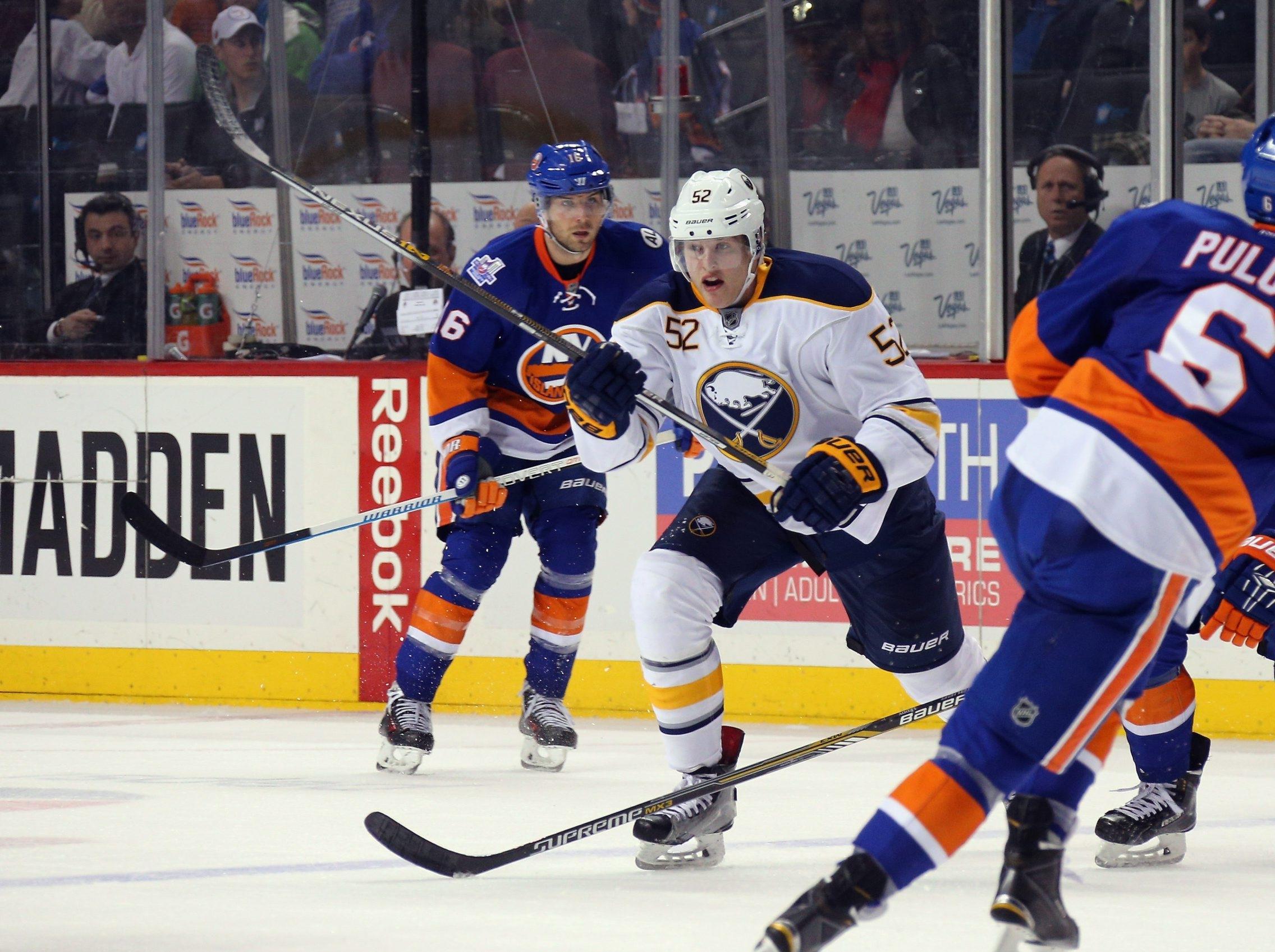 Hudson Fasching skates against the New York Islanders in the season finale Saturday.