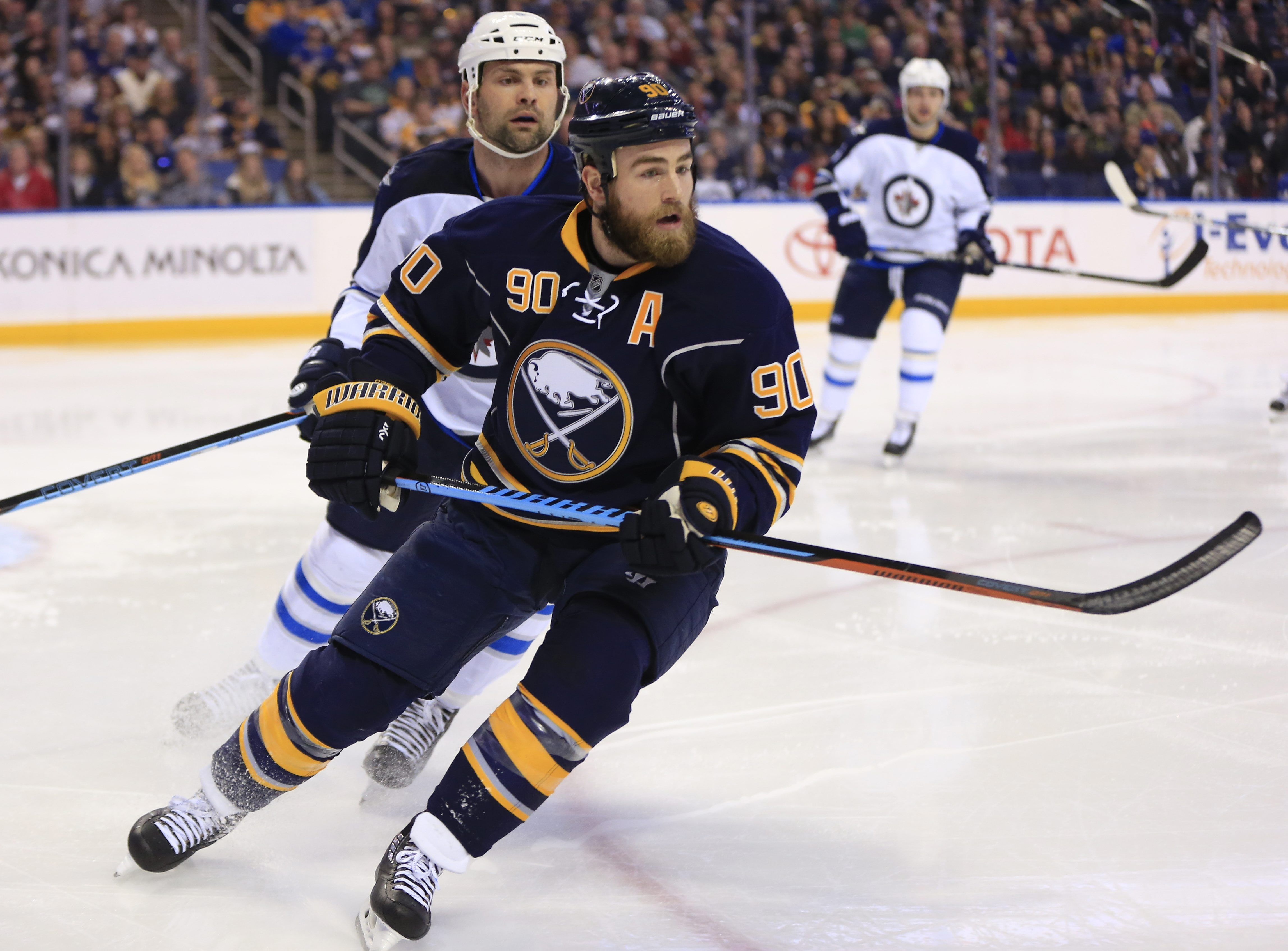 Buffalo Sabres Ryan O'Reilly skates against the Winnipeg Jets during first period action at the First Niagara Center on Saturday, March 26, 2016. (Harry Scull Jr./Buffalo News)