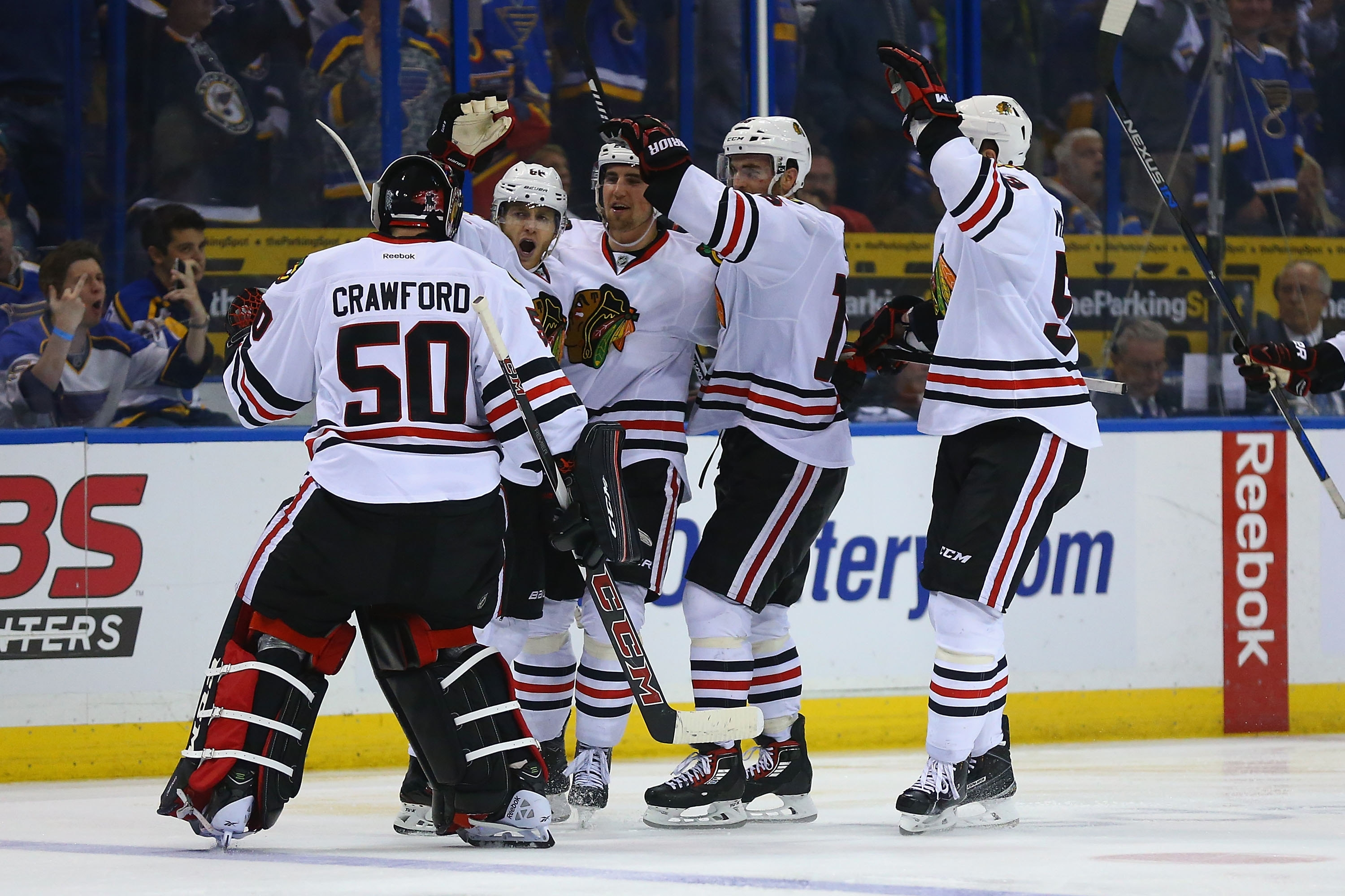 Patrick Kane's first goal of this year's playoffs came at an opportune time, in the second overtime of Game 5 against St. Louis.