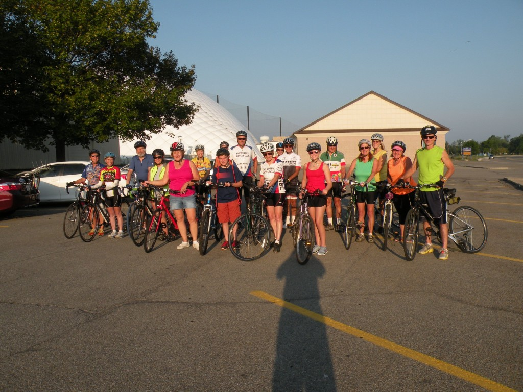 Members of the Big Wheels Bicycle Club enjoyed a ride last Labor Day Weekend.