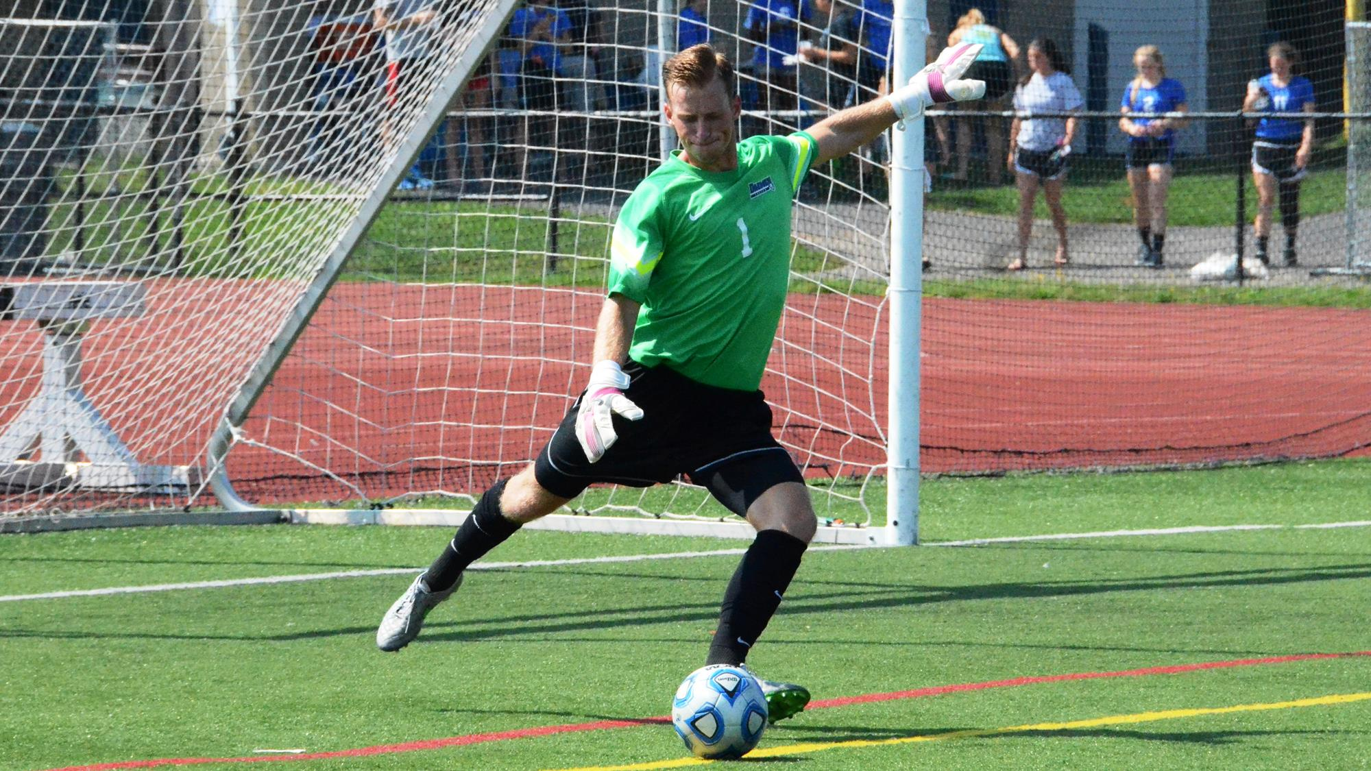 Grand Island native Justin Figler will compete for time in goal for FC Buffalo. (Daemen Athletics)