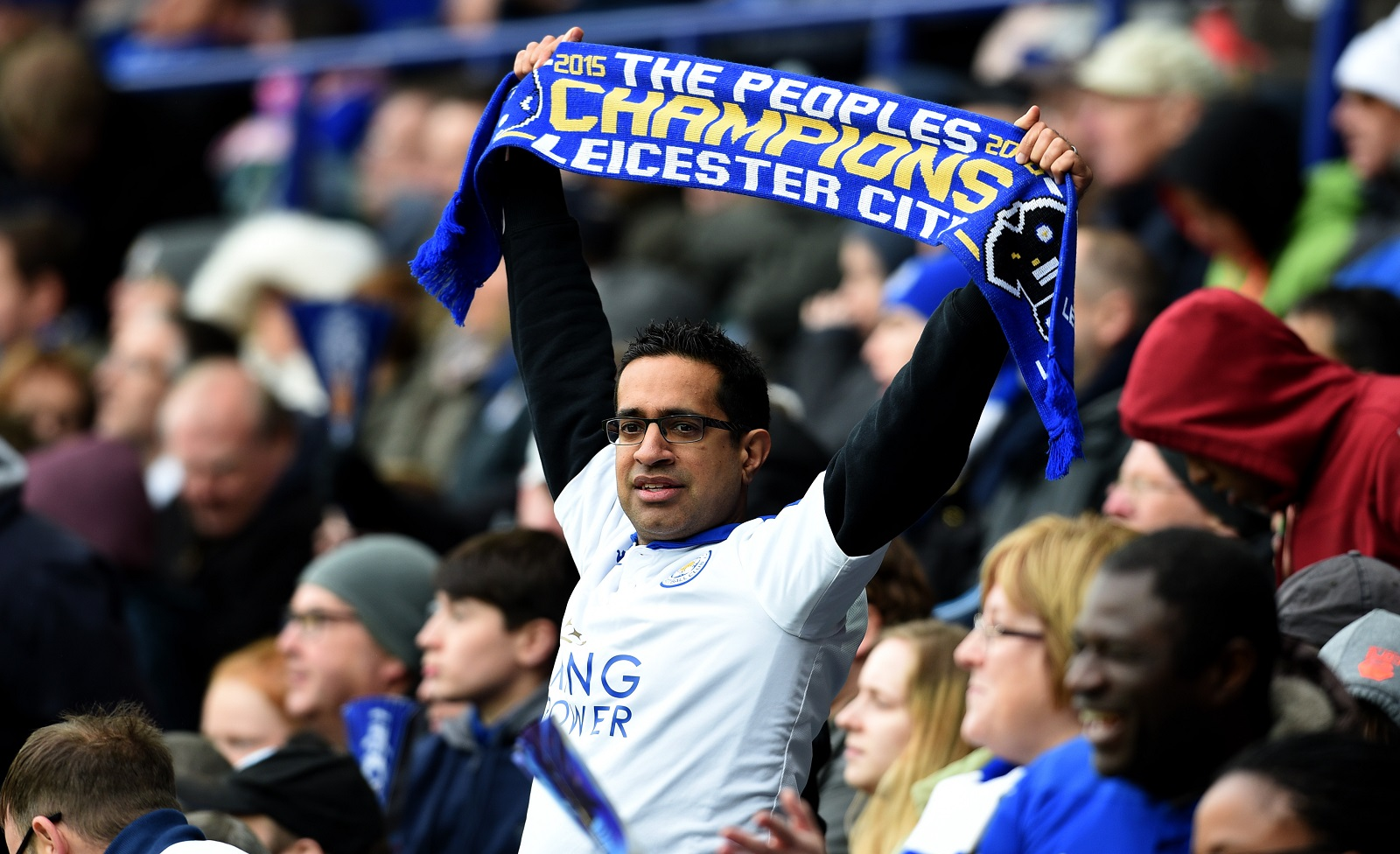 These days, Leicester supporters -- and English football fans in general -- are a little more relaxed than the 1980s-era of hooliganism. (Getty Images)