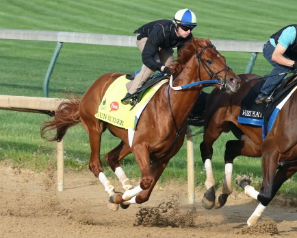 Gun Runner works this week in Louisville Photo Credit: Churchill Downs/Coady Photography