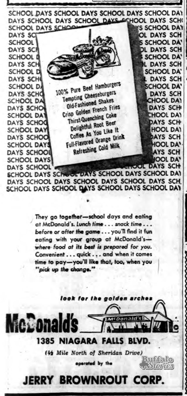 1962 ad. Buffalo Stories archives