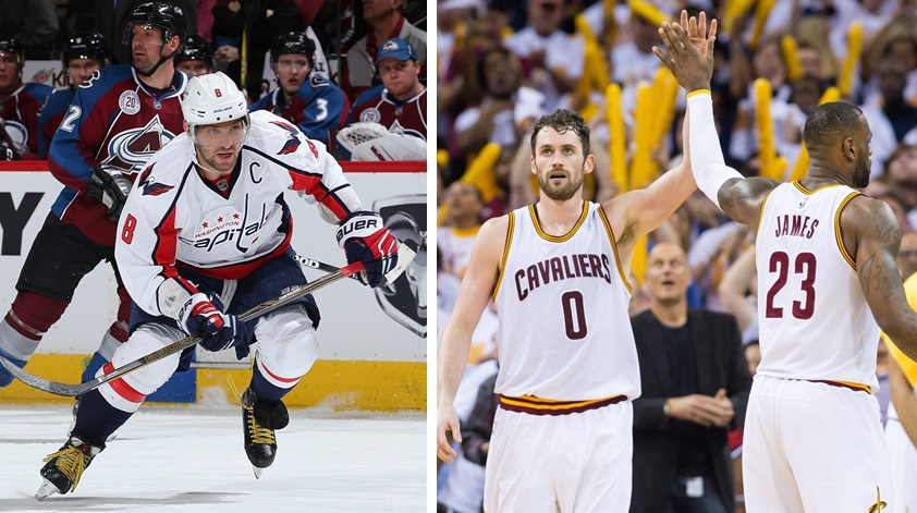 Alexander Ovechkin of the Washington Capitals, as the NBA's Cleveland Cavaliers, are discussed on 'Sports Talk Sunday.' (Getty Images)