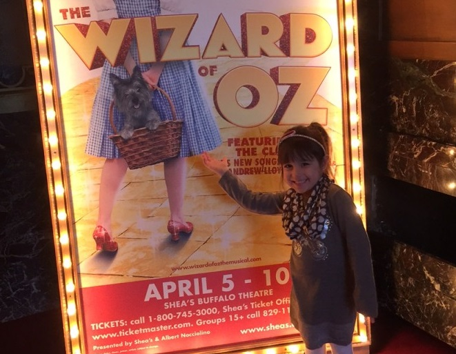 Emma, 4, loved 'The Wizard of Oz,' but was a bit scared in a few parts. (Mary Friona-Celani/Special To The News)