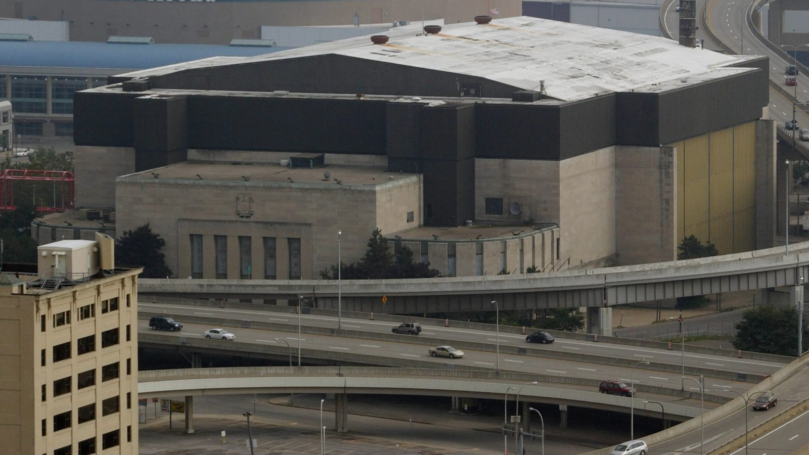 A look from above at the Aud, prior to its spring 2009 demolition. (Robert Kirkham/News file photo)