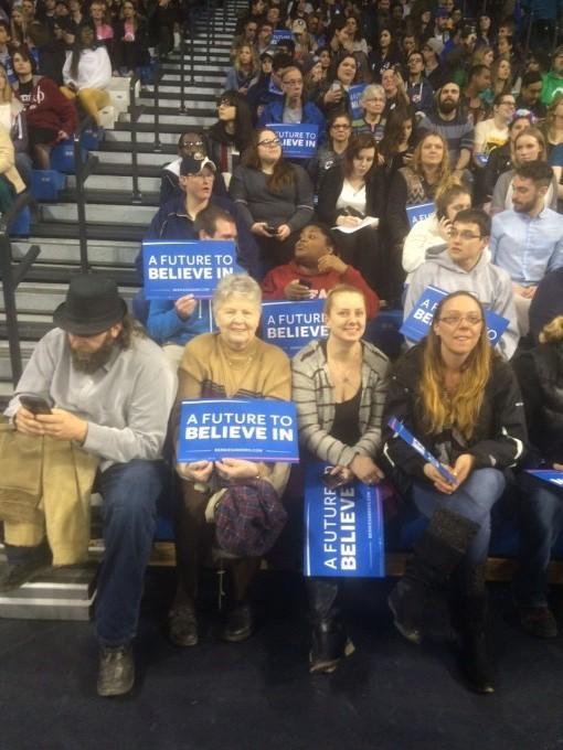 The Bernie Sanders Monday night rally