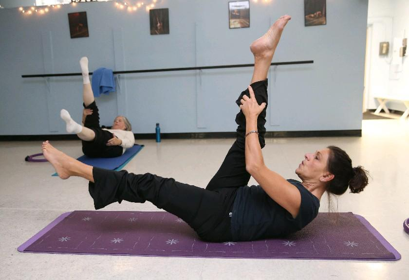 Carla Baran leads Pilates classes three times a week in Clarence. (Sharon Cantillon/Buffalo News)
