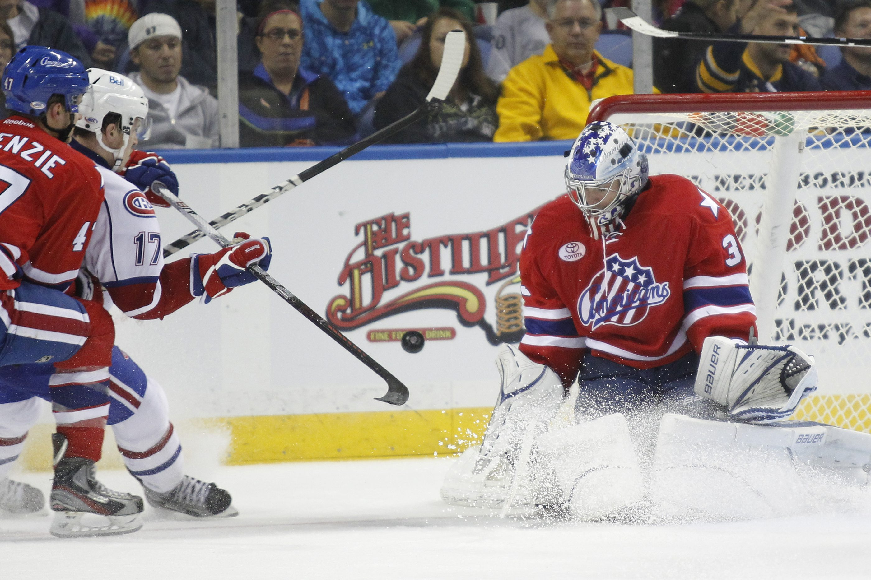 Goaltender David Leggio played for the Rochester Americans from 2011-13.  (Harry Scull Jr. / Buffalo News)