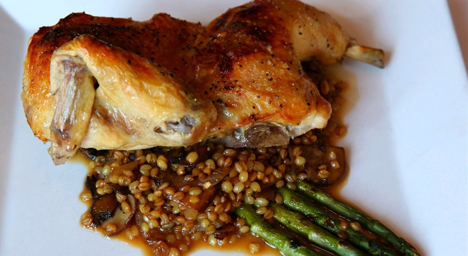 Ristorante Lombardo's roasted chicken is one of the dishes that earned the Hertel restaurant 10 plates. (Sharon Cantillon/Buffalo News file photo)