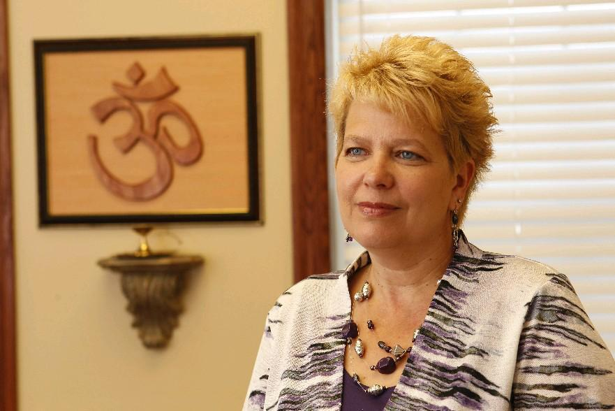 Nancy Weil, founder of the Holistic Alliance of WNY and grief coordinator with Catholic Cemeteries in the Diocese of Buffalo, helped funeral home owner Charles Castiiglia prepare for Sunday's Holistic Health Open House. (Buffalo News file photo)
