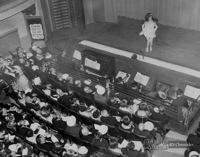 The last show at the Palace Burlesk's original location in 1967. (News file photo)