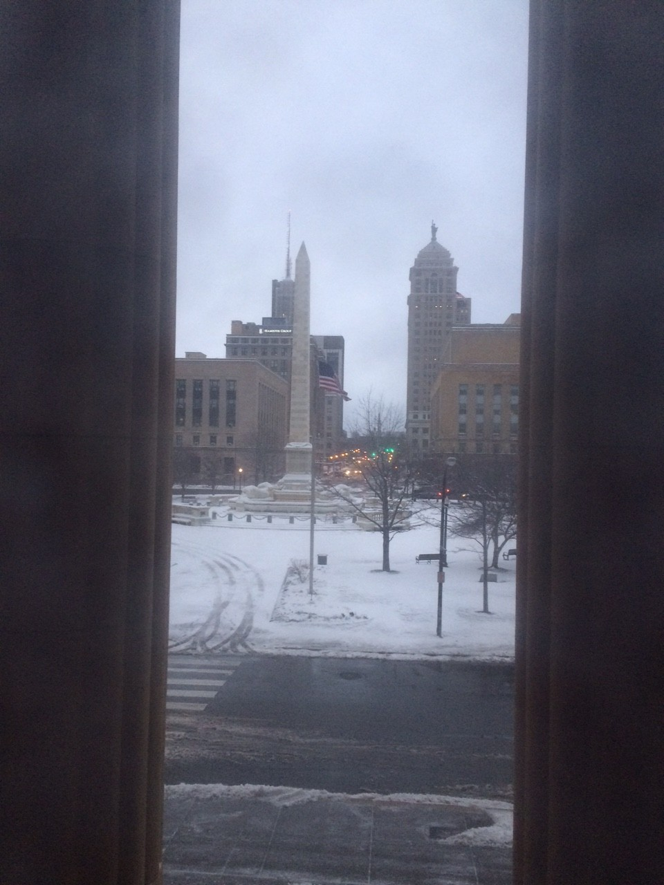 Looking out my window on second floor of City Hall, 7:20 a.m., April 4, 2016