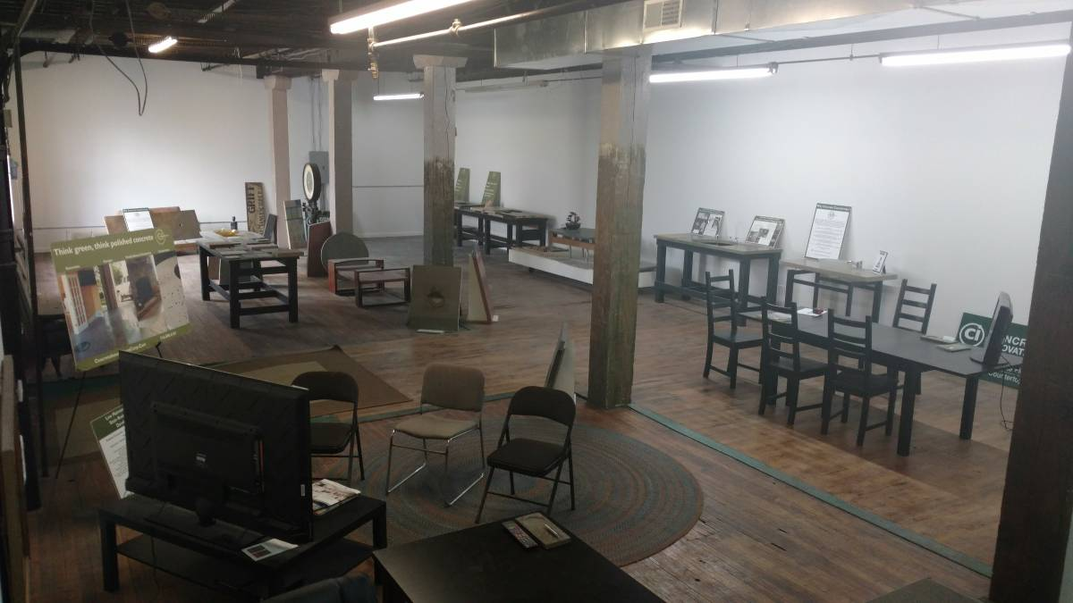 A showroom space in the offices of Concrete Innovations will be converted into an art gallery.