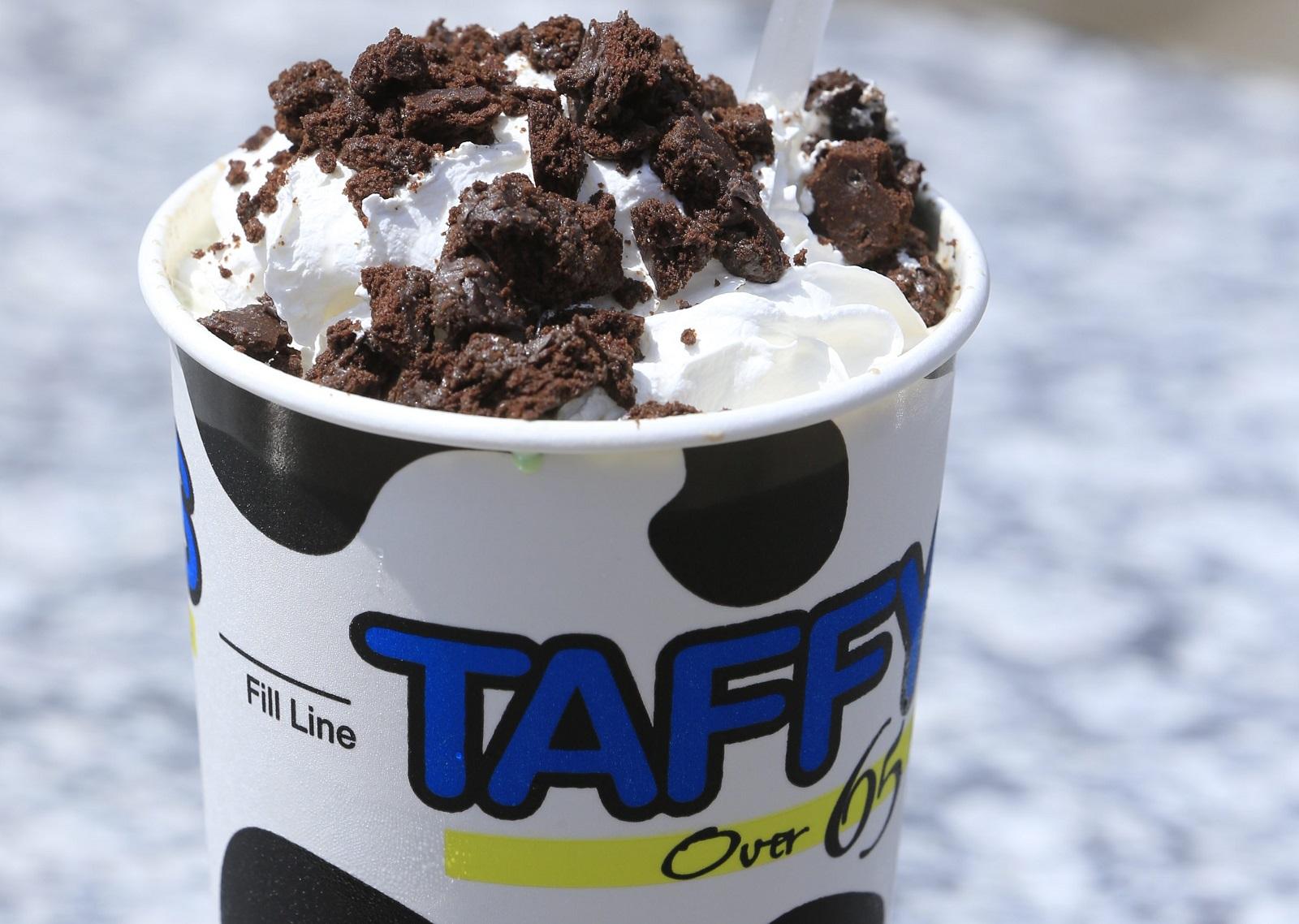 A milkshake at Taffy's on Friday, June 26, 2015. (Harry Scull Jr/Buffalo News)