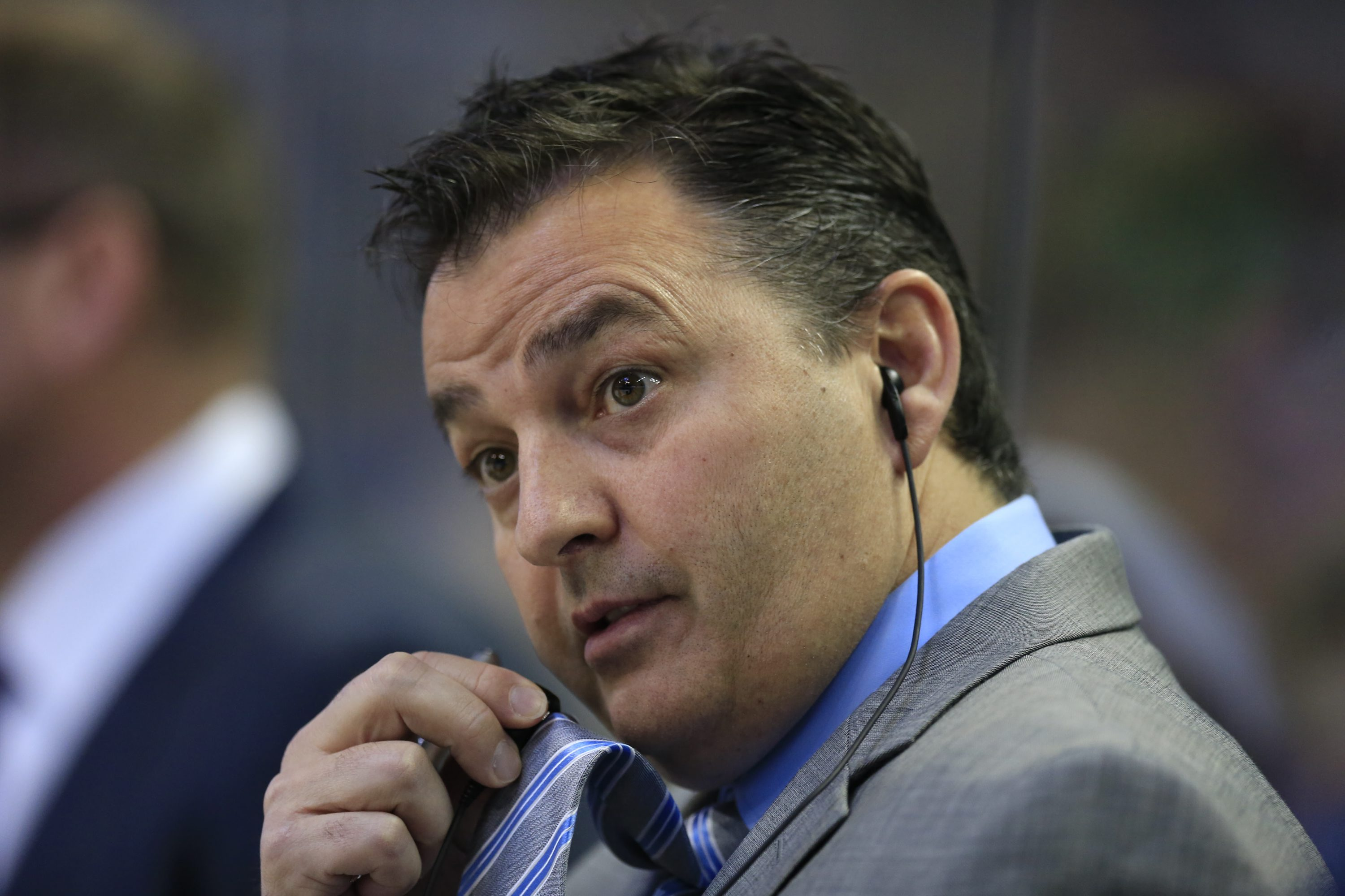 Amerks coach Dan Lambert has learned how to handle vets and rookies. (Harry Scull Jr./Buffalo News)