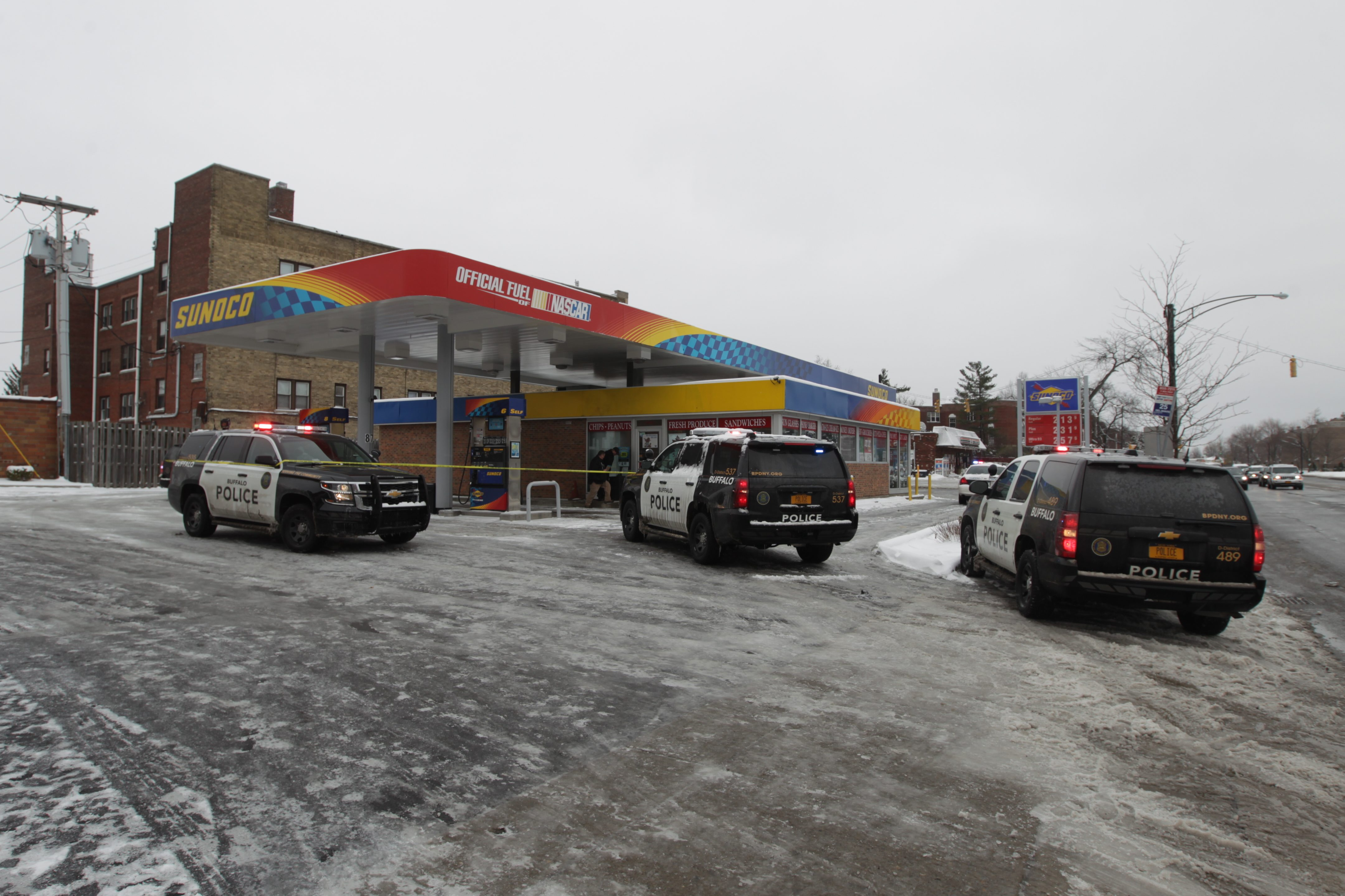 A 23-year-old man has been charged in an April 4 shooting at a gas station at Delaware Avenue and Amherst Street. It was one of 23 shootings in Buffalo in the month of April. (John Hickey/Buffalo News)