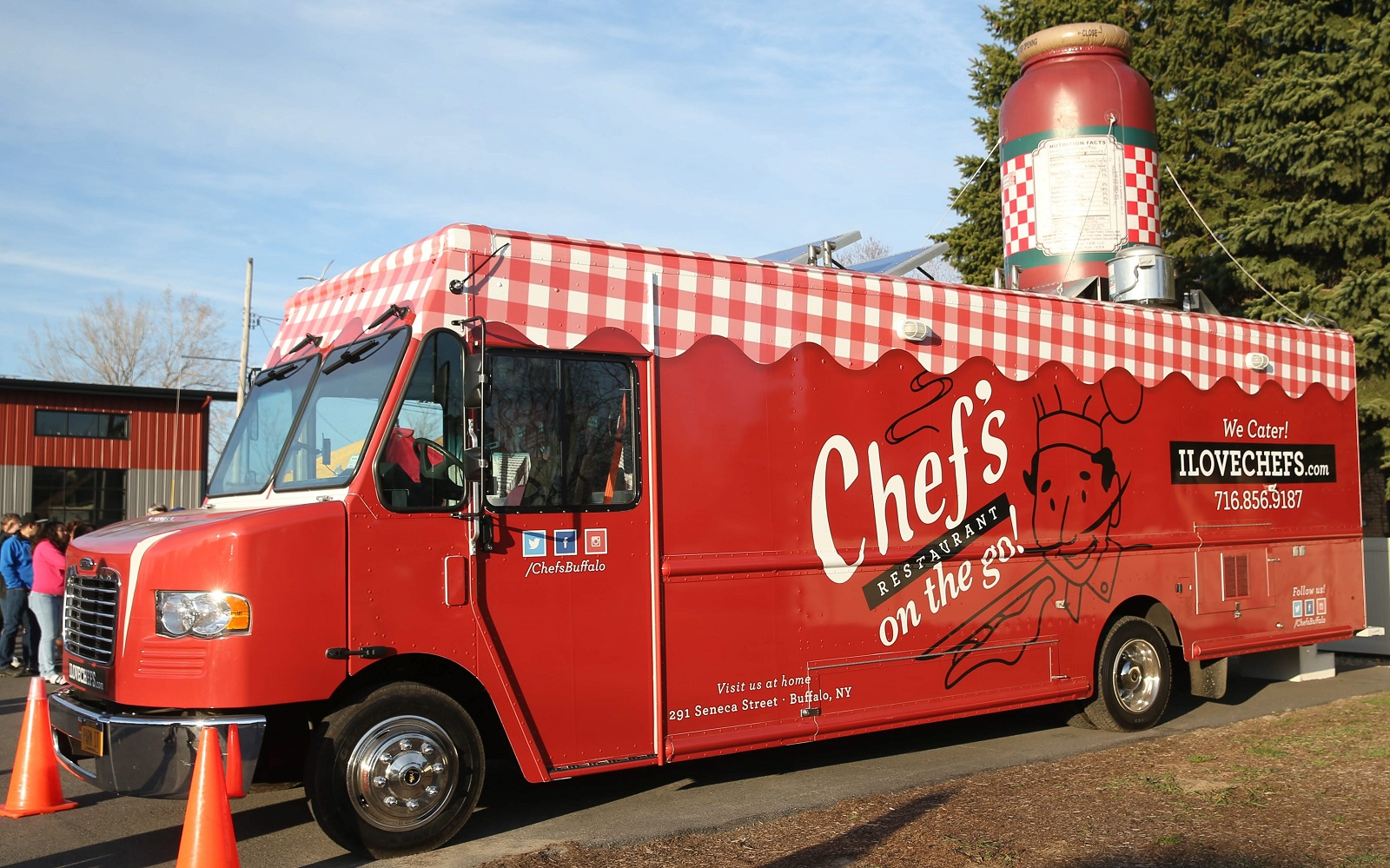 Chef's On the Go is a mobile extension of legendary Chef's Restaurant. (Sharon Cantillon/Buffalo News)