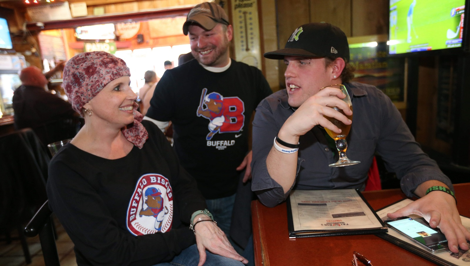 Hanging out from left are Jodi Lawrie of Fredonia, her boyfriend Dennis Bowquin of Fredonia and her nephew, Joe Lawrie of Corfu. (Sharon Cantillon/Buffalo News)