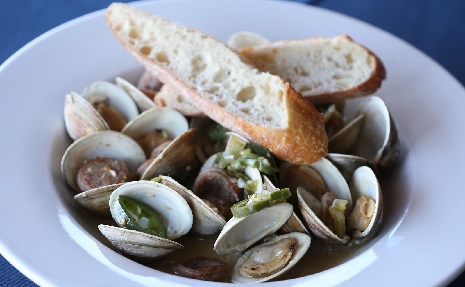 Littleneck clams from Public House on the Lake. (Sharon Cantillon/Buffalo News)