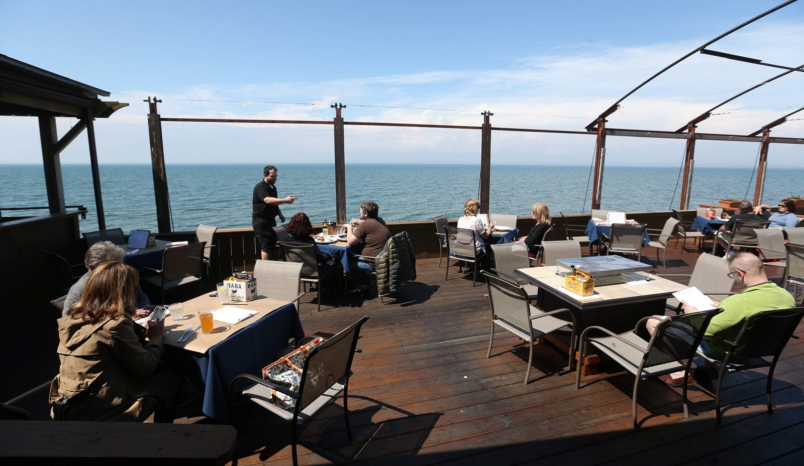 The patio, with a gorgeous view of Lake Erie, is the favorite spot once the weather warms up. (Sharon Cantillon/Buffalo News)
